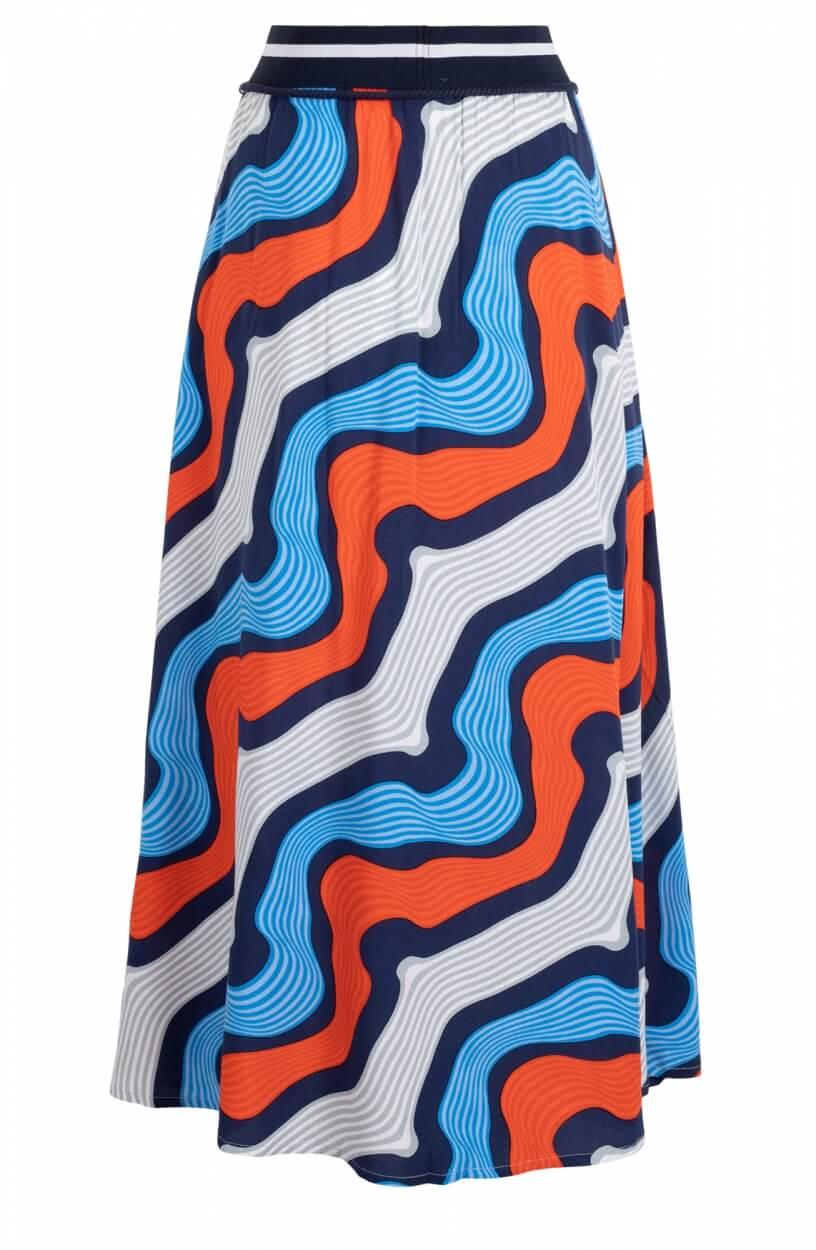 Anna Blue Dames Maxi rok met dessin Oranje
