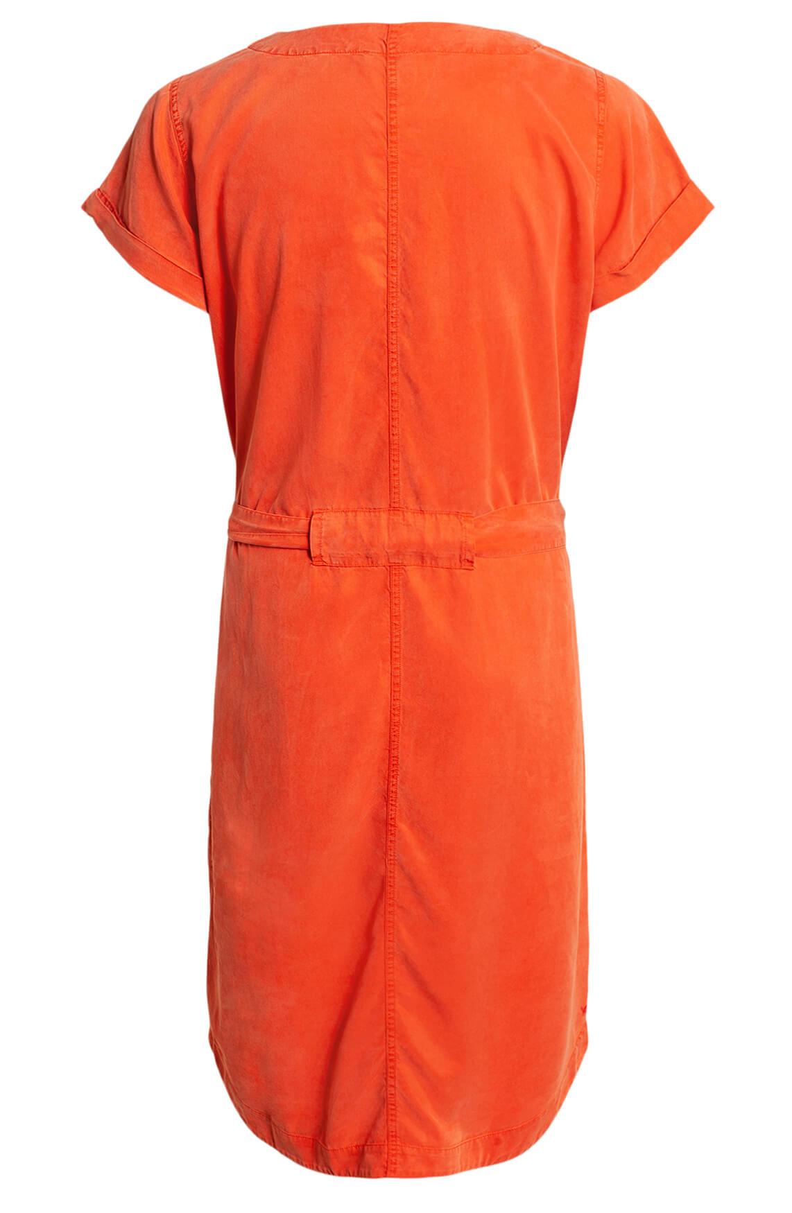 Anna Blue Dames Garment dye jurk Oranje
