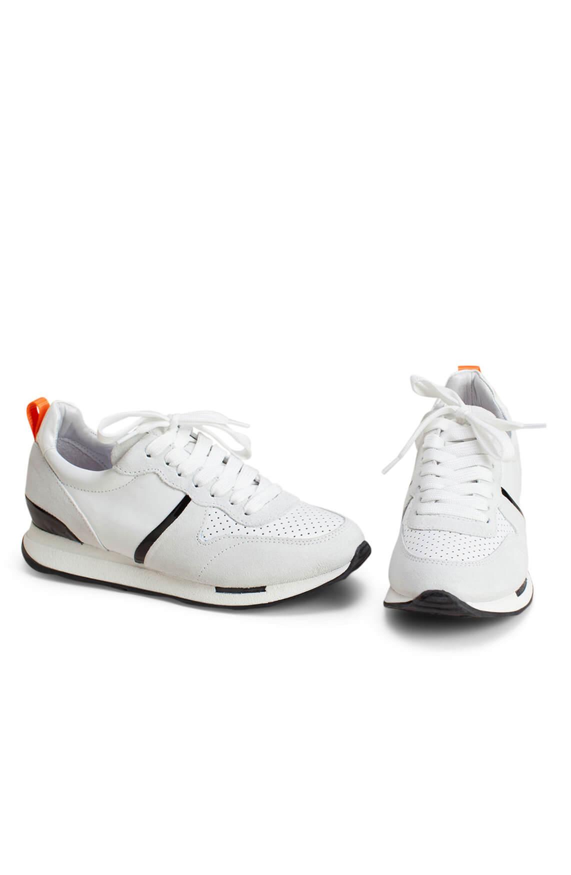 Hip Dames Materiaalmix sneaker wit