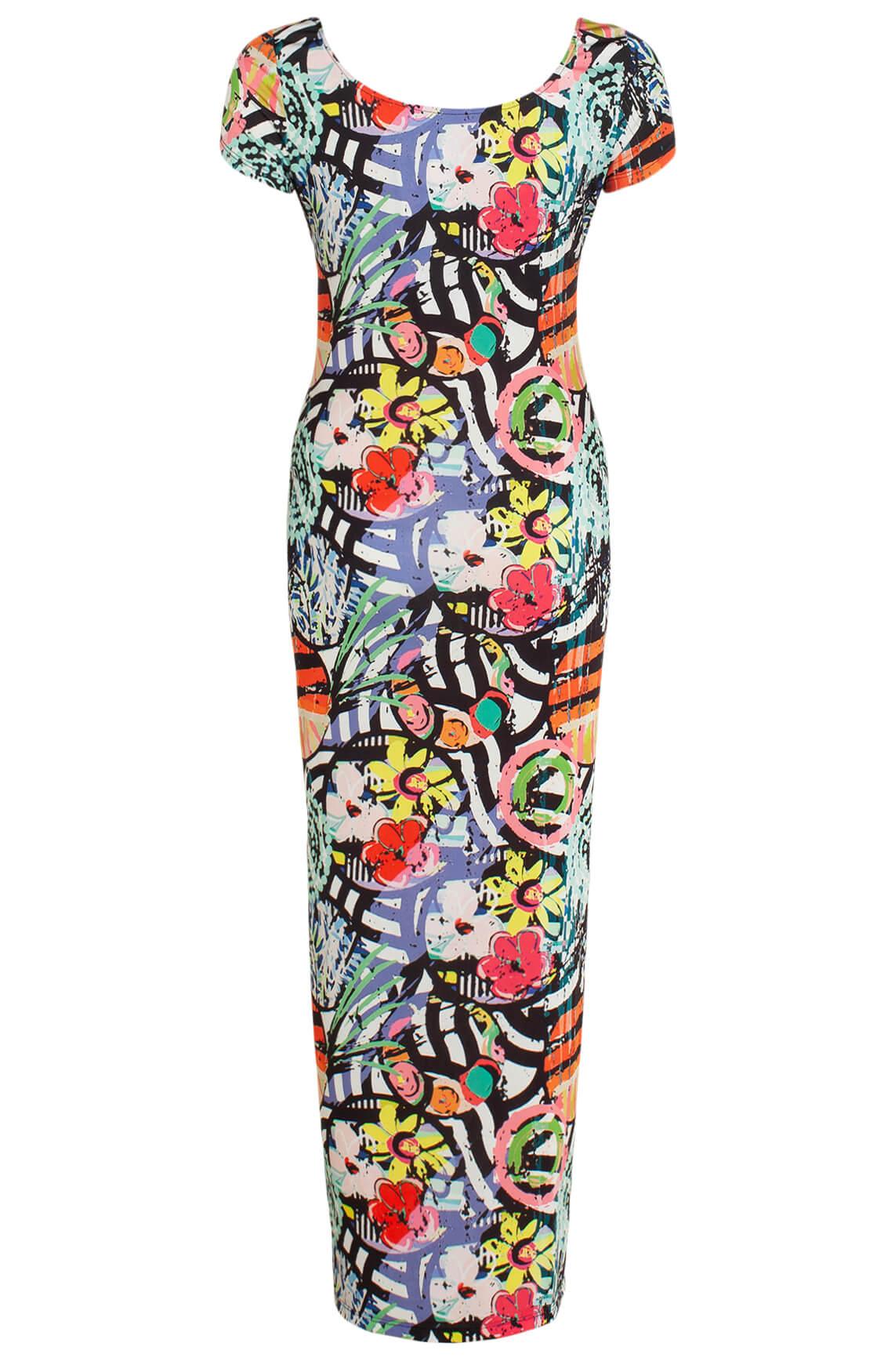 Eroke Dames Lange geprinte jurk MultiColor