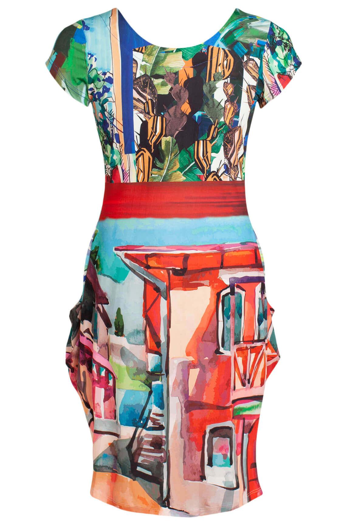 Eroke Dames Abstracte jurk MultiColor