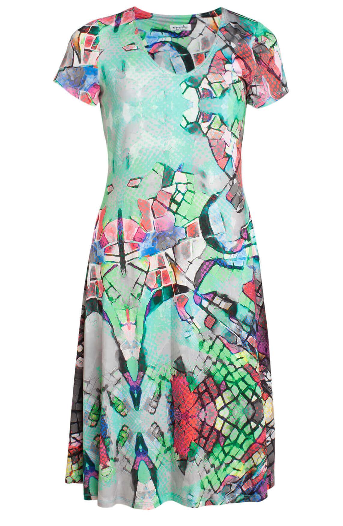 Eroke Dames Geprinte jurk groen