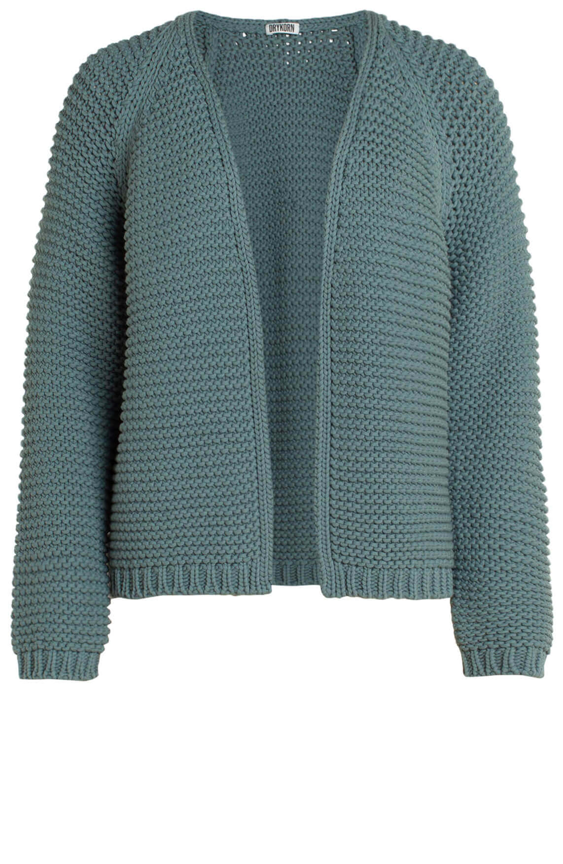 Drykorn Dames Drena chunky knit vest groen