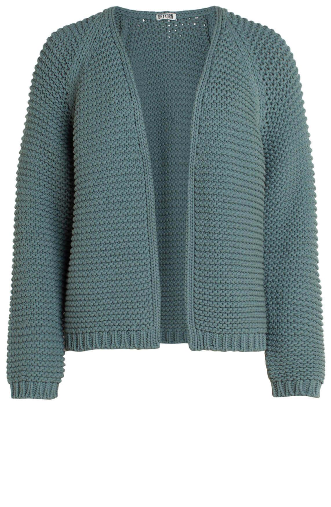 Drykorn Dames Drena chunky knit vest groen