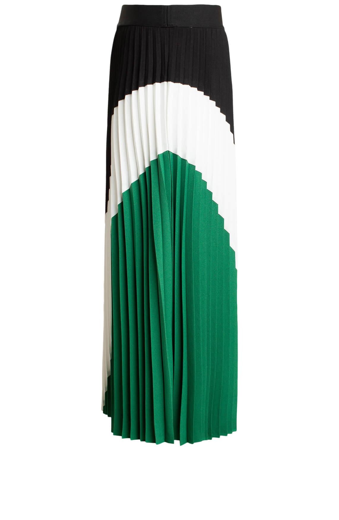 Anna Dames Gestreepte plissé rok groen