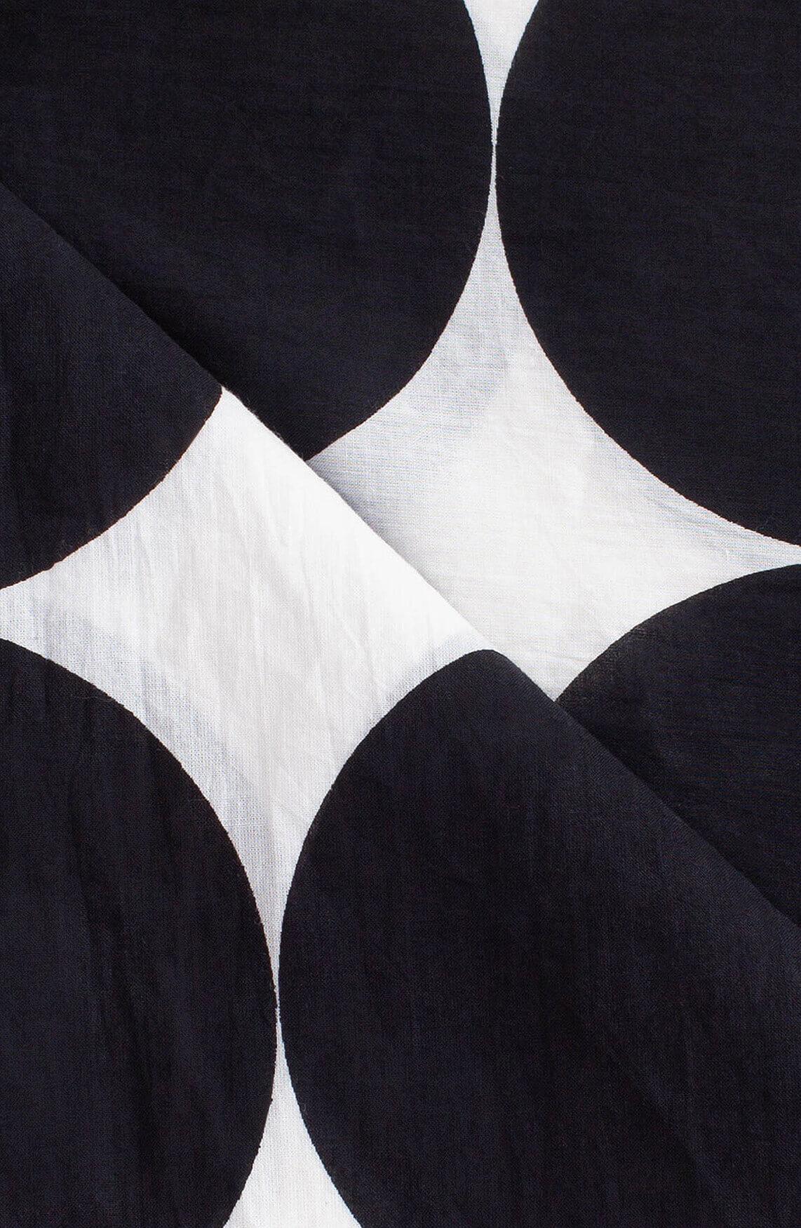 Anna Dames Polkadot shawl zwart