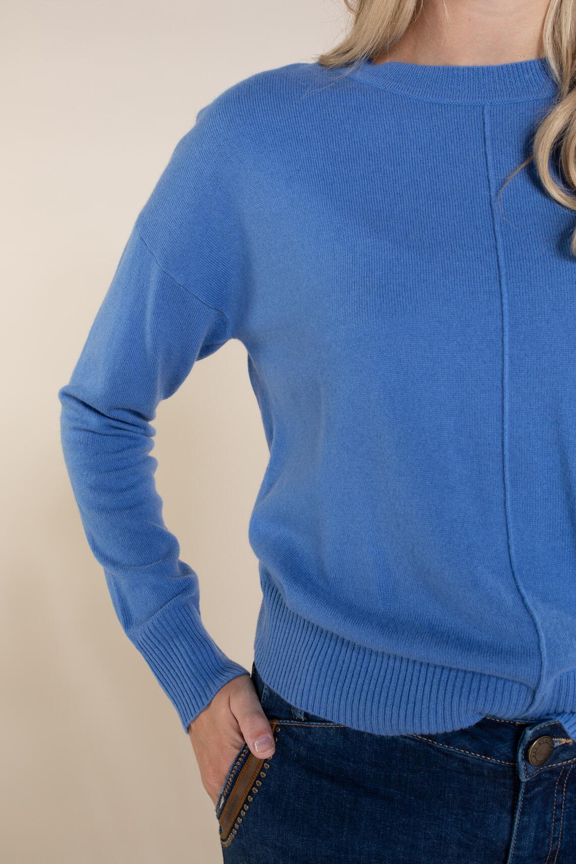 Anna Dames Cashmere pullover Blauw