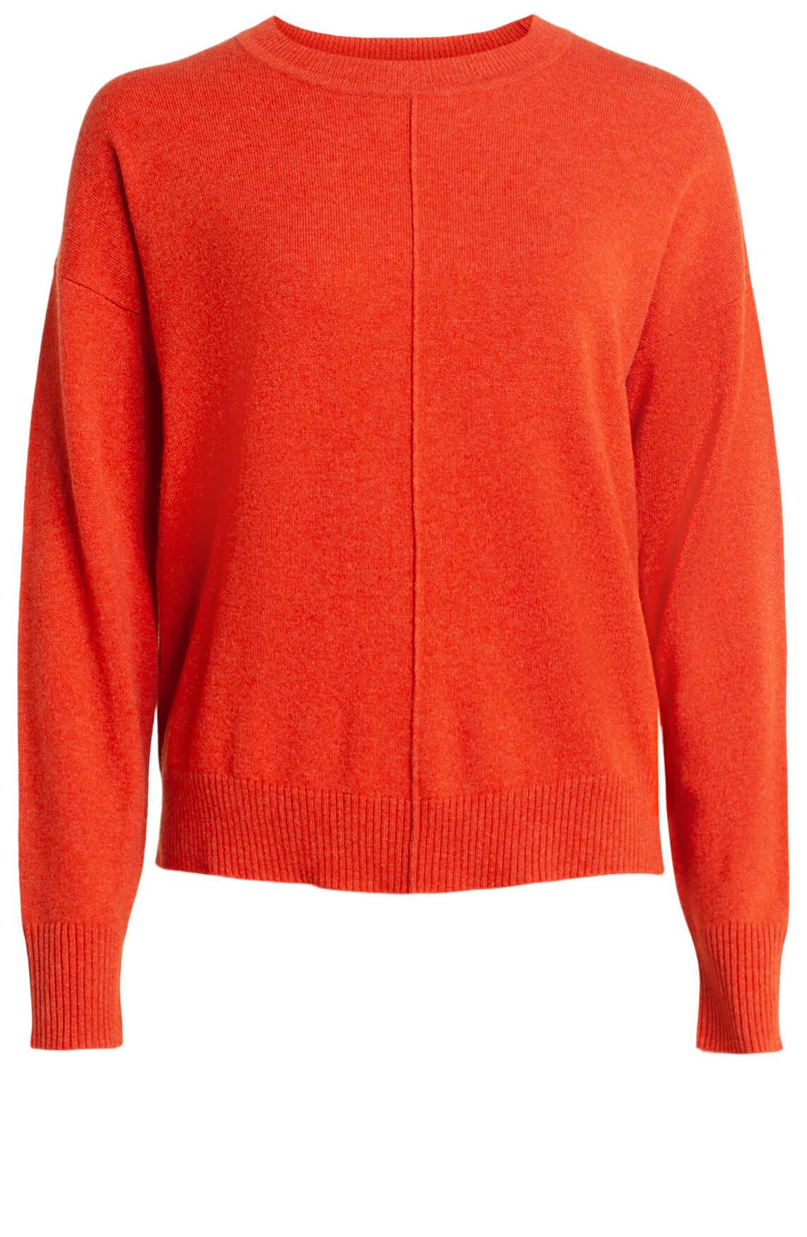 Anna Dames Cashmere pullover Oranje