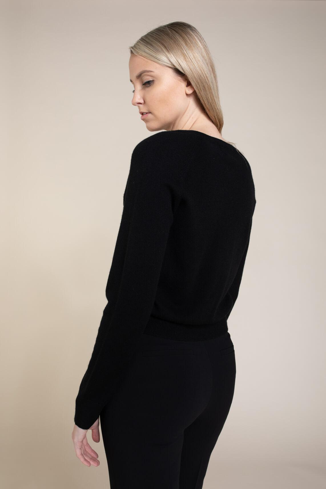 Anna Dames Cashmere vestje zwart