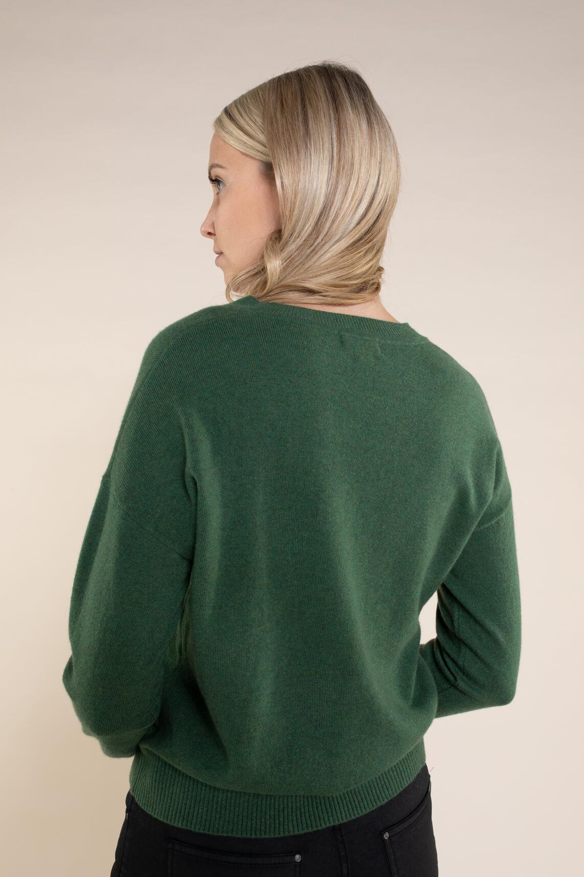 Anna Dames Cashmere pullover groen