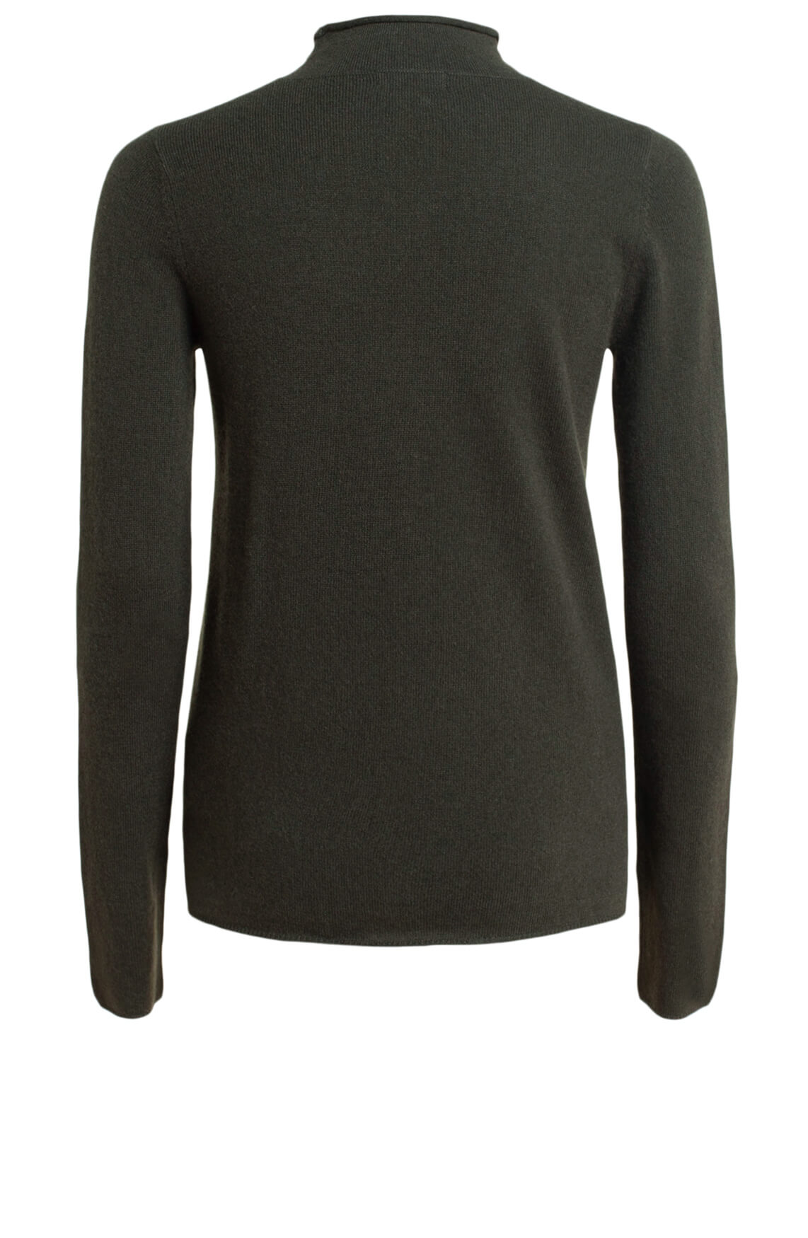 Anna Dames Cashmere pullover met col groen