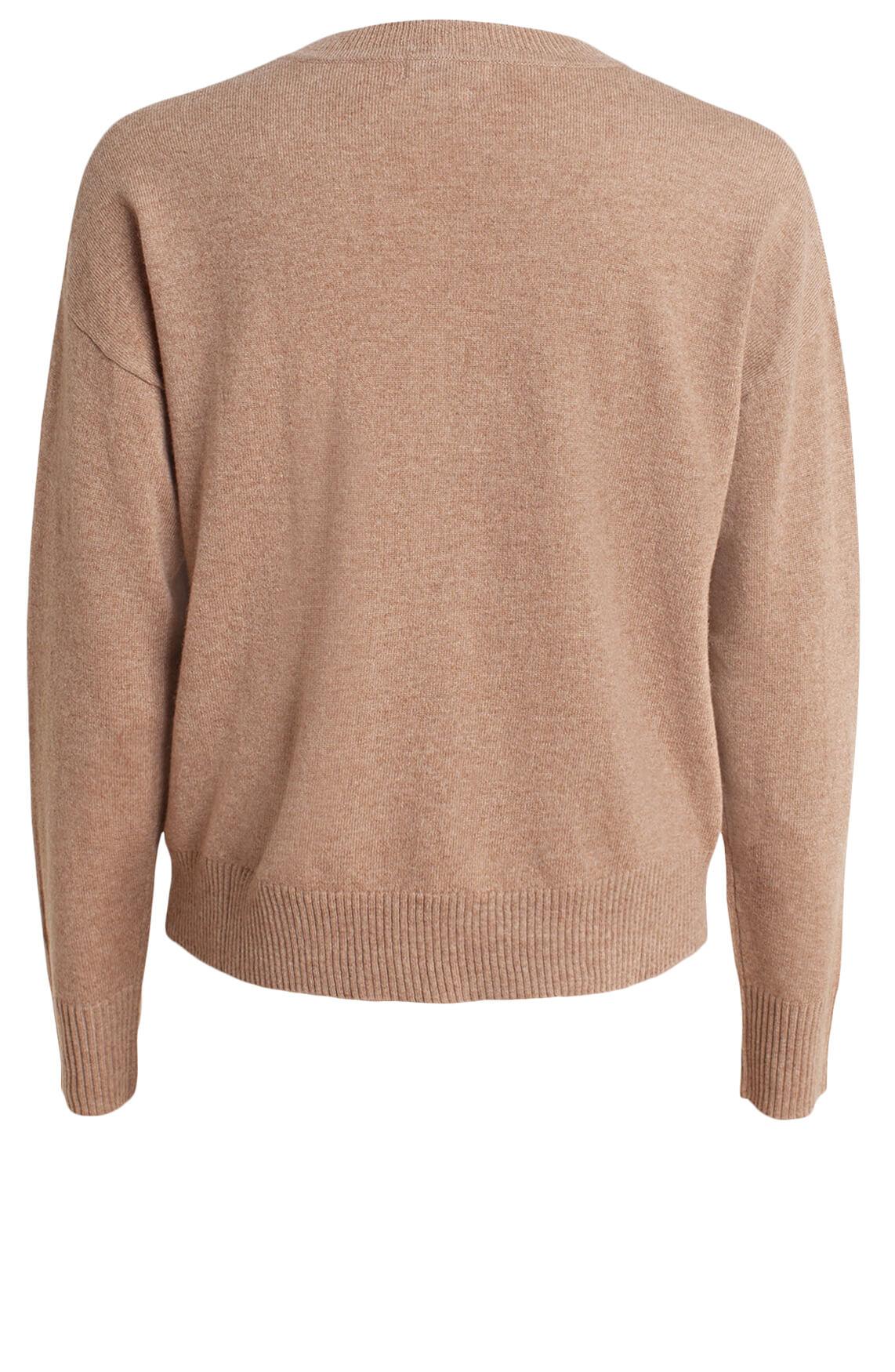 Anna Dames Cashmere pullover Bruin