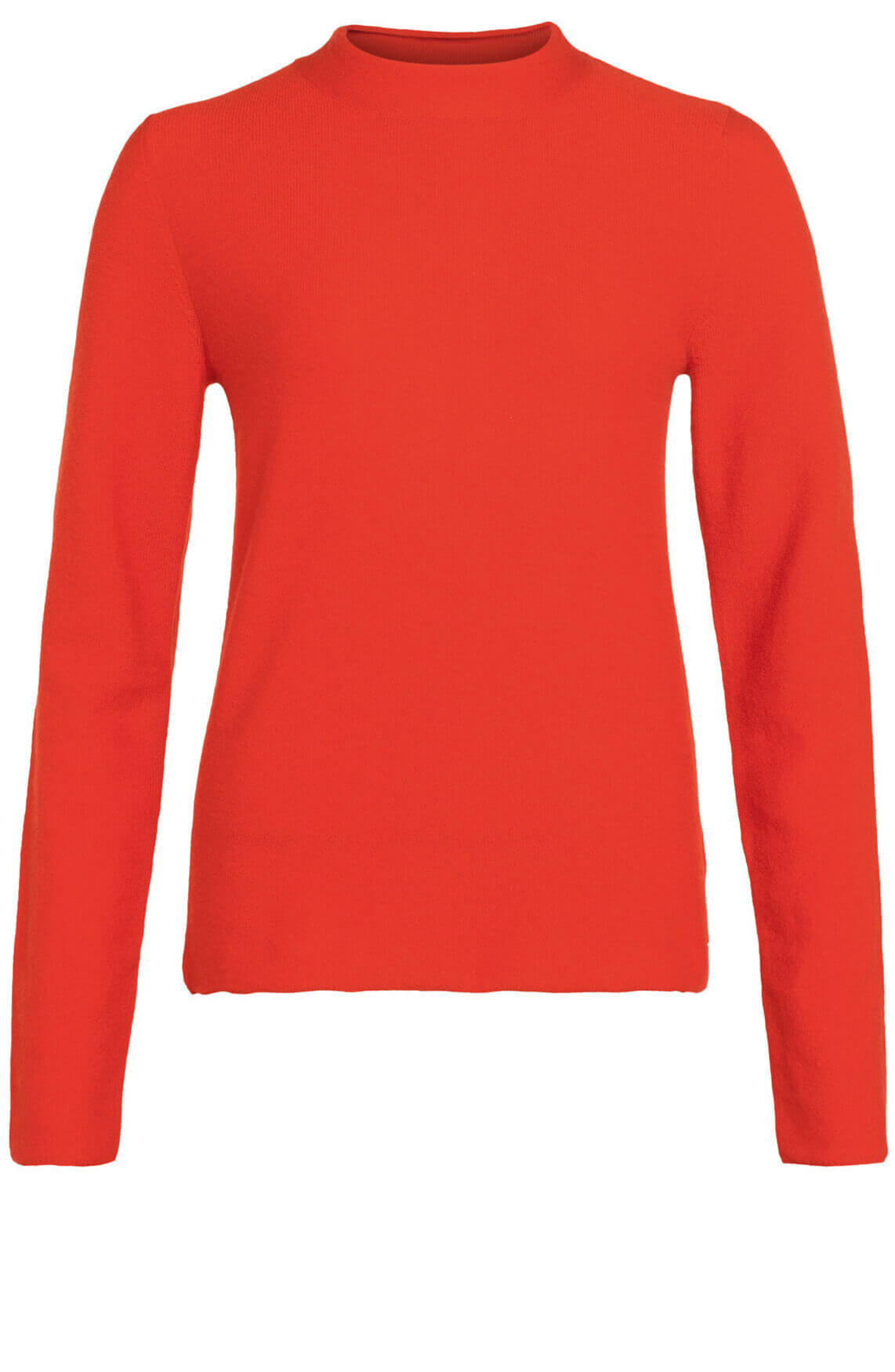 Anna Dames Cashmere pullover met col Rood