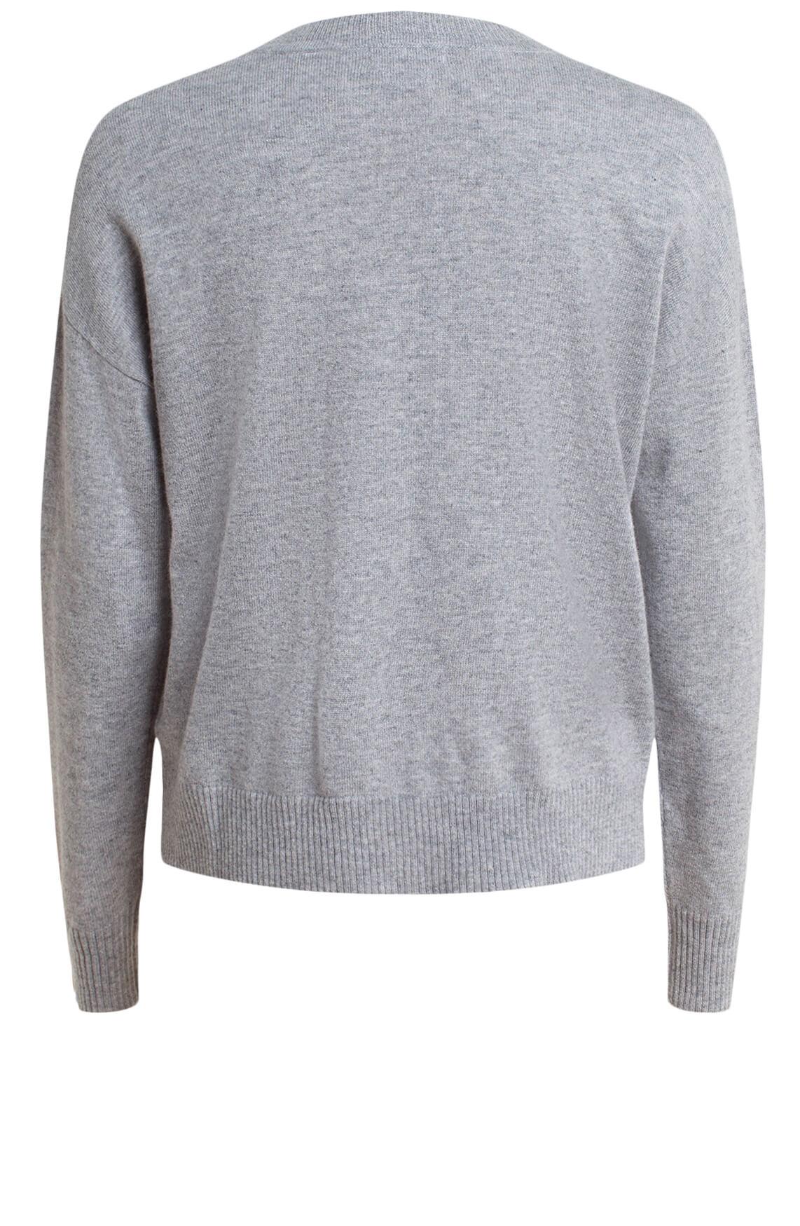 Anna Dames Cashmere pullover Grijs