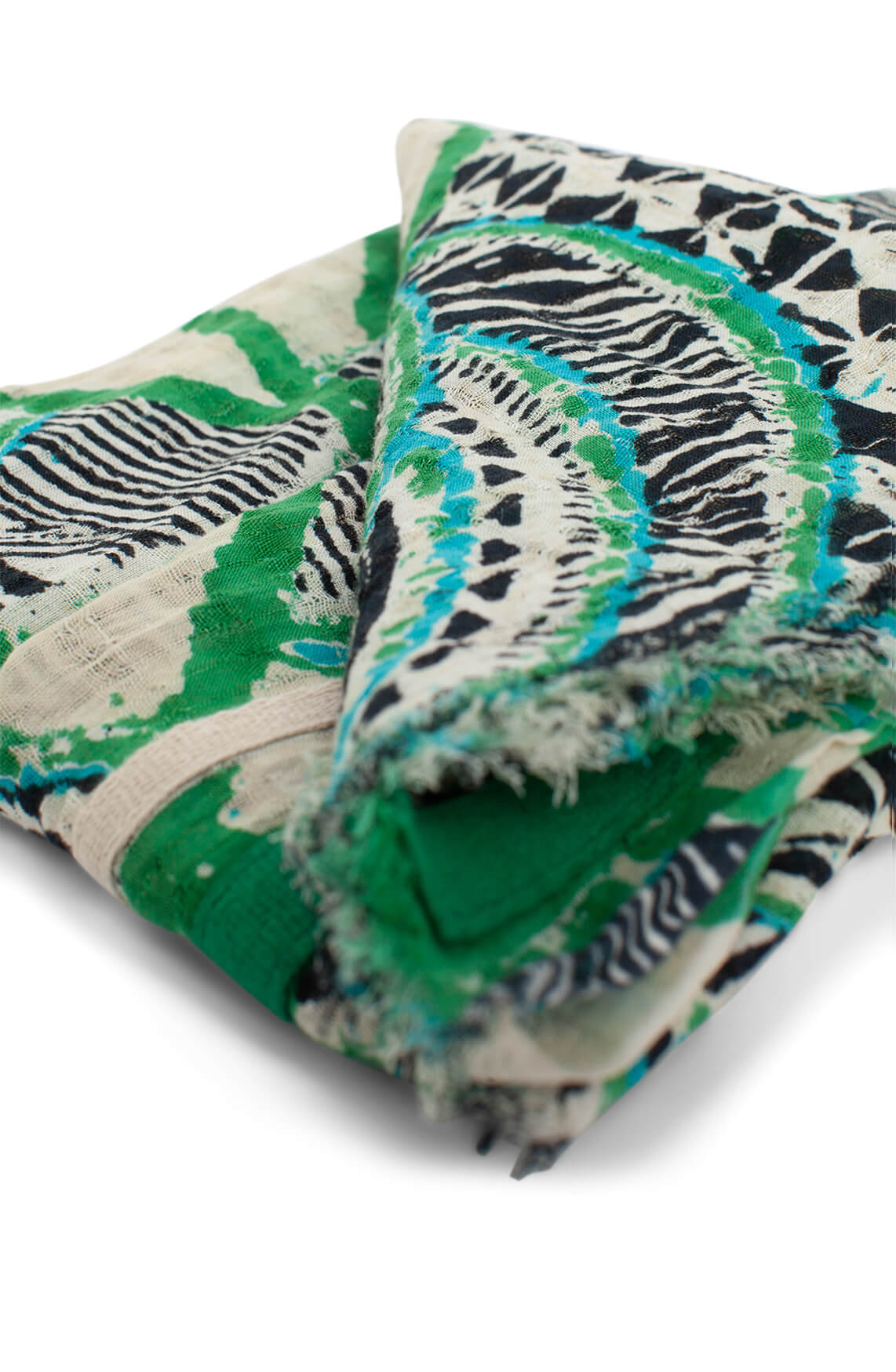 Anna Dames Shawl met print groen