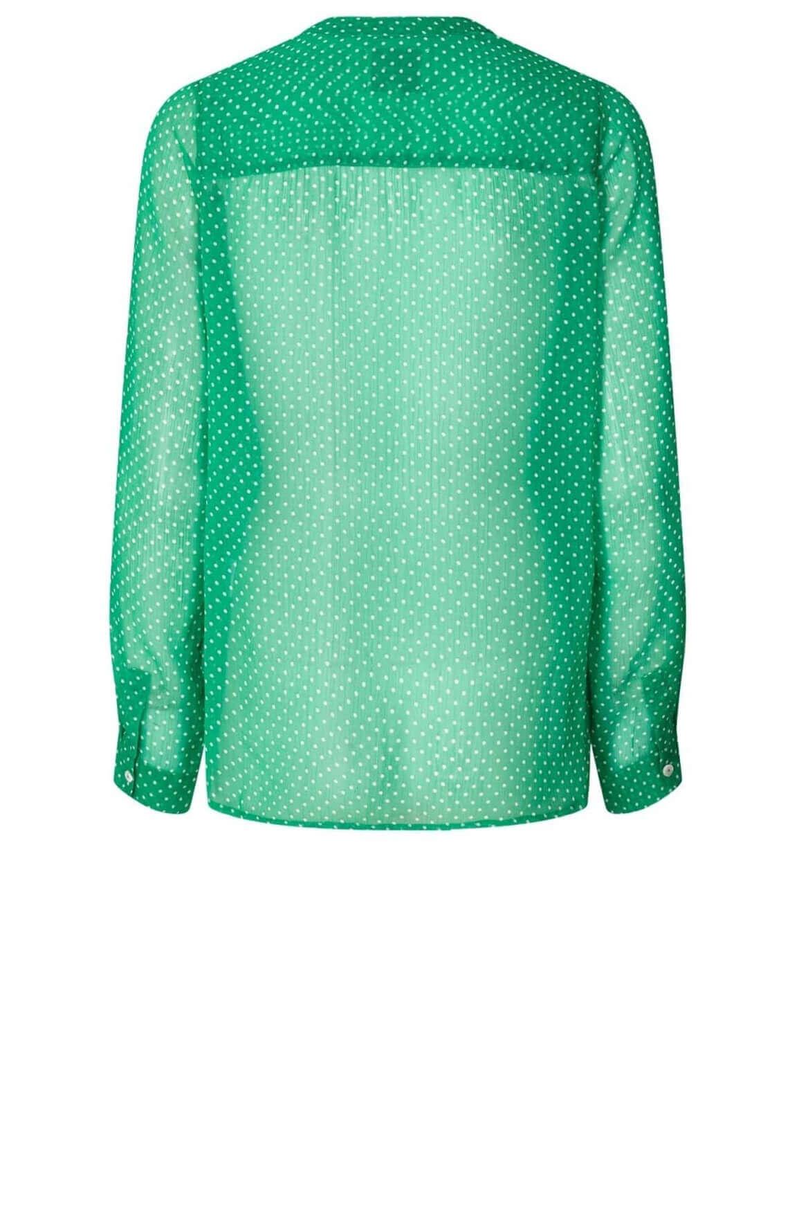Lollys Laundry Dames Helena gestippelde blouse groen
