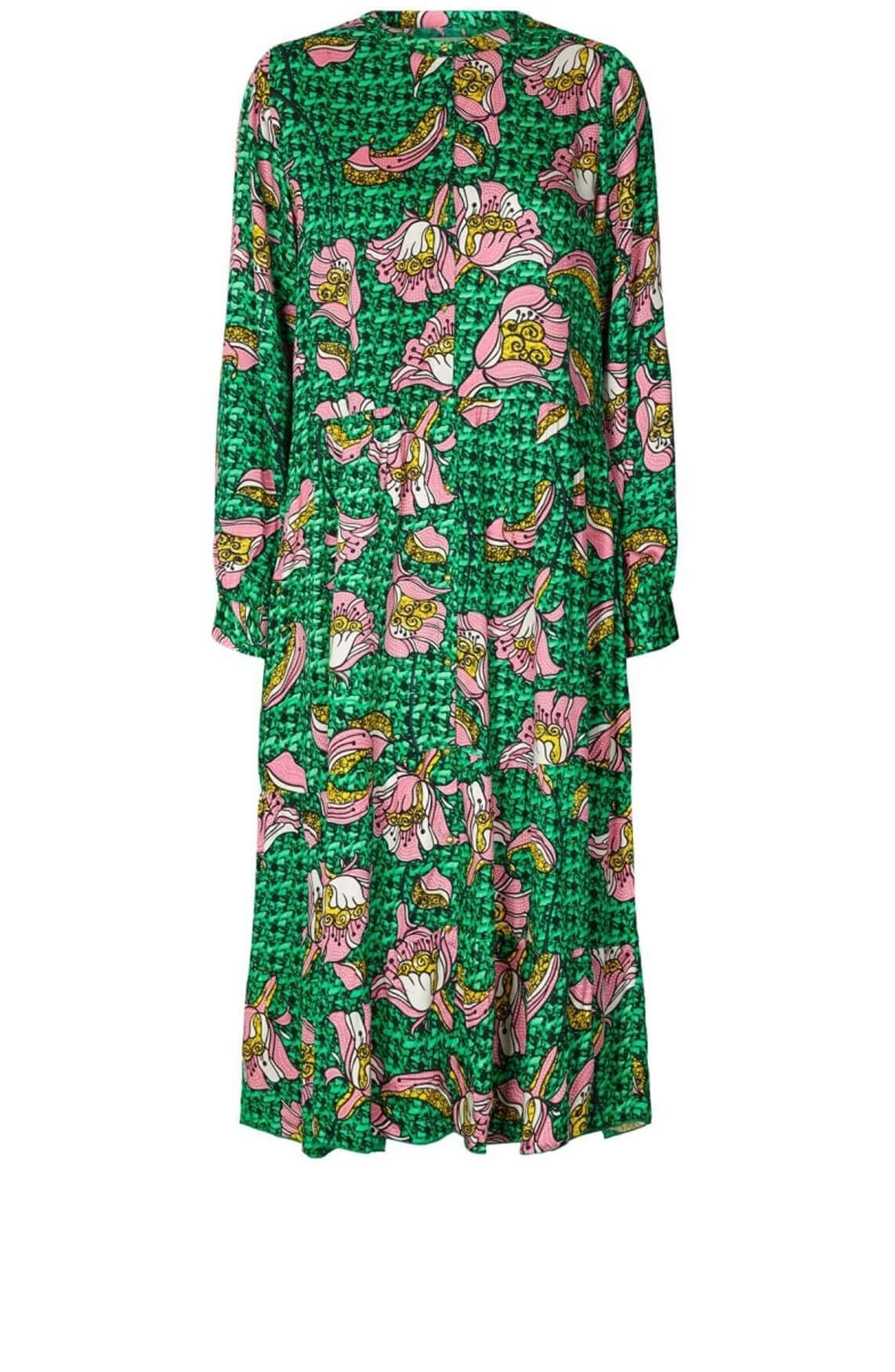 Lollys Laundry Dames Kaia jurk groen
