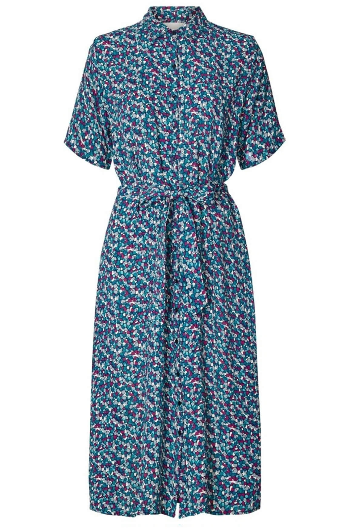 Lollys Laundry Dames Blake jurk groen
