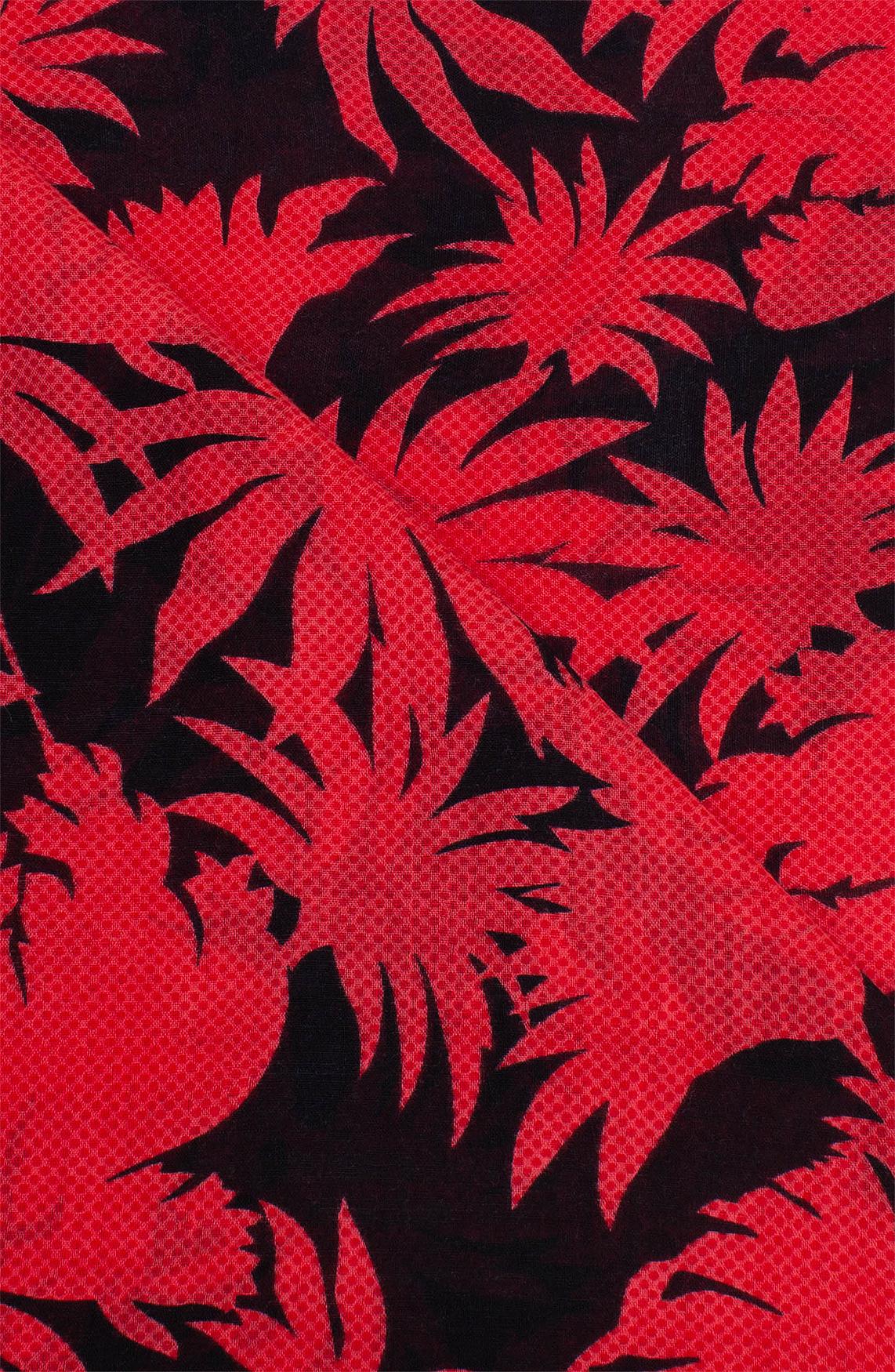 Anna Dames Shawl met bladprint Rood