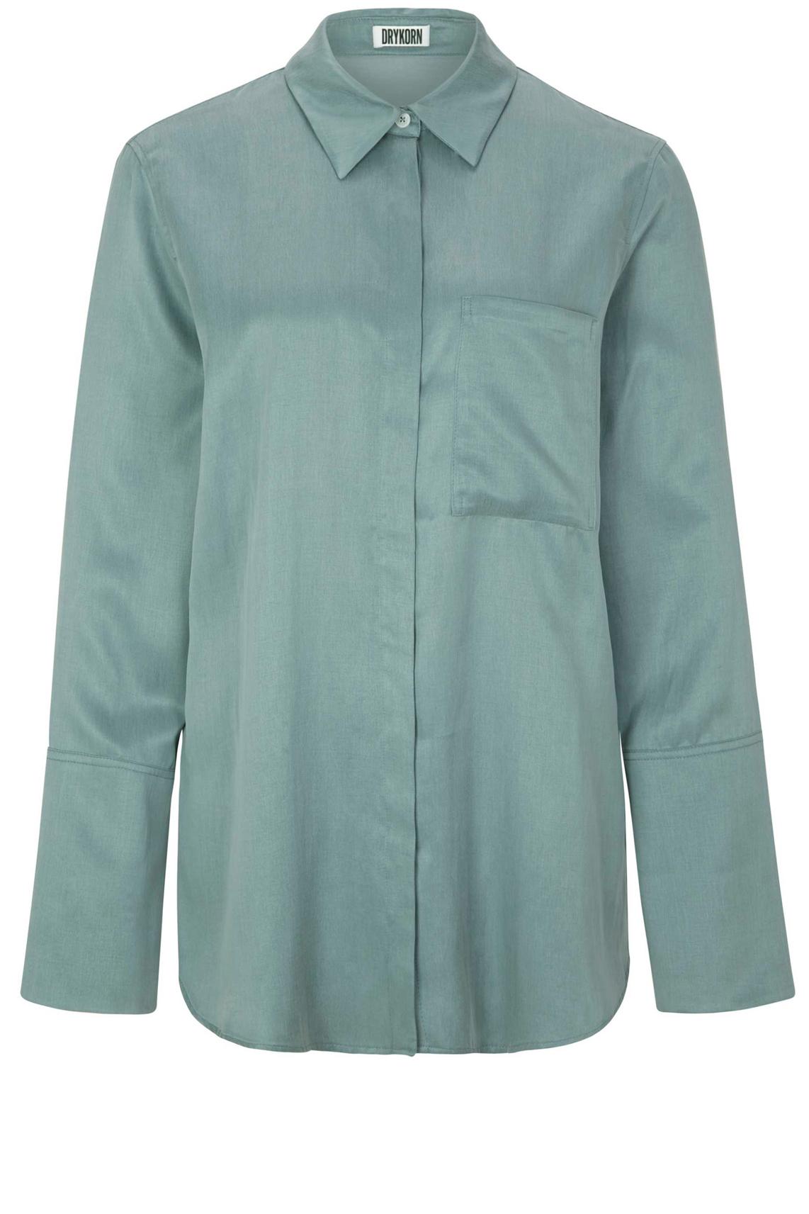 Drykorn Dames Charlee cupro blouse groen