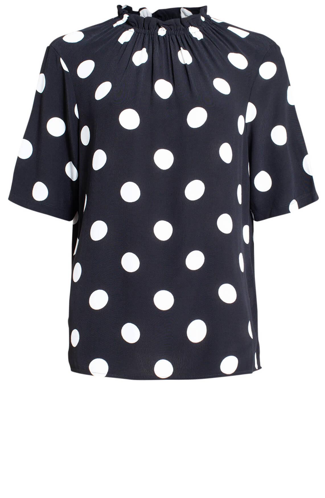 Anna Dames Polkadot blousetop zwart