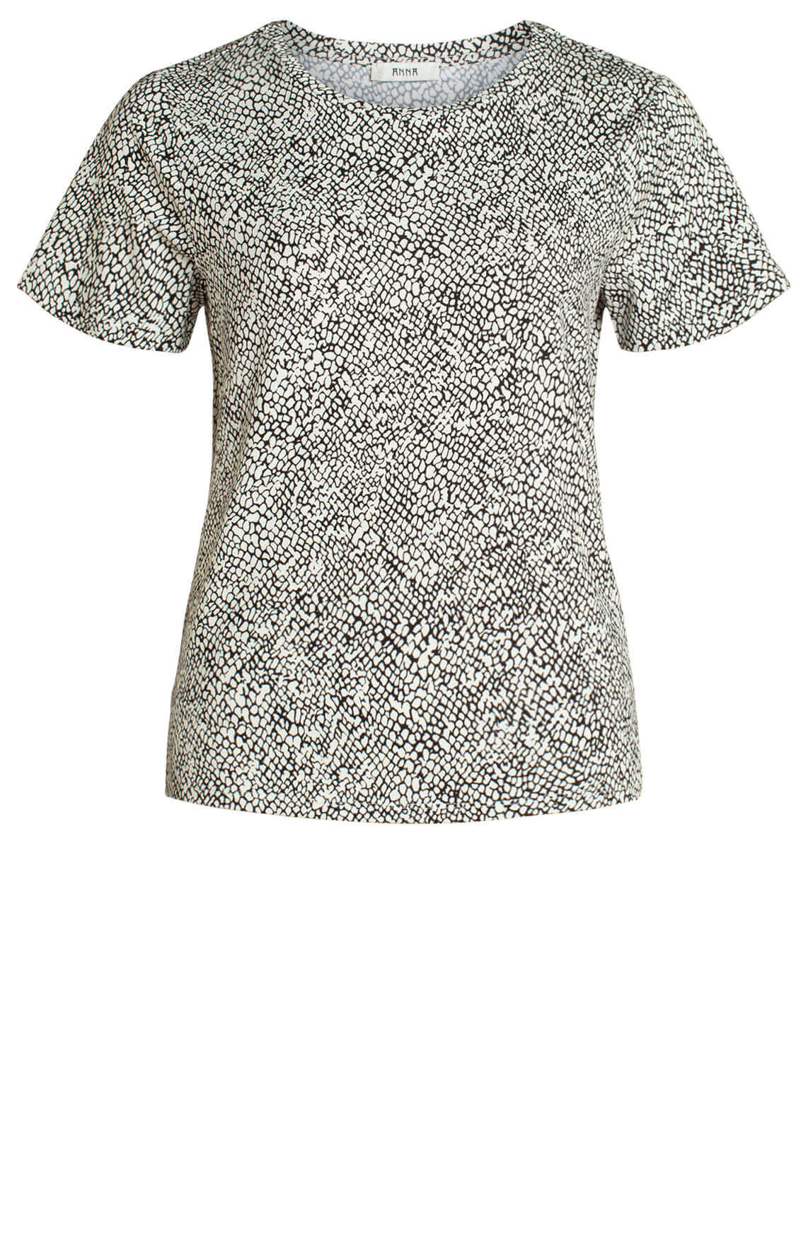 Anna Dames Shirt met print zwart