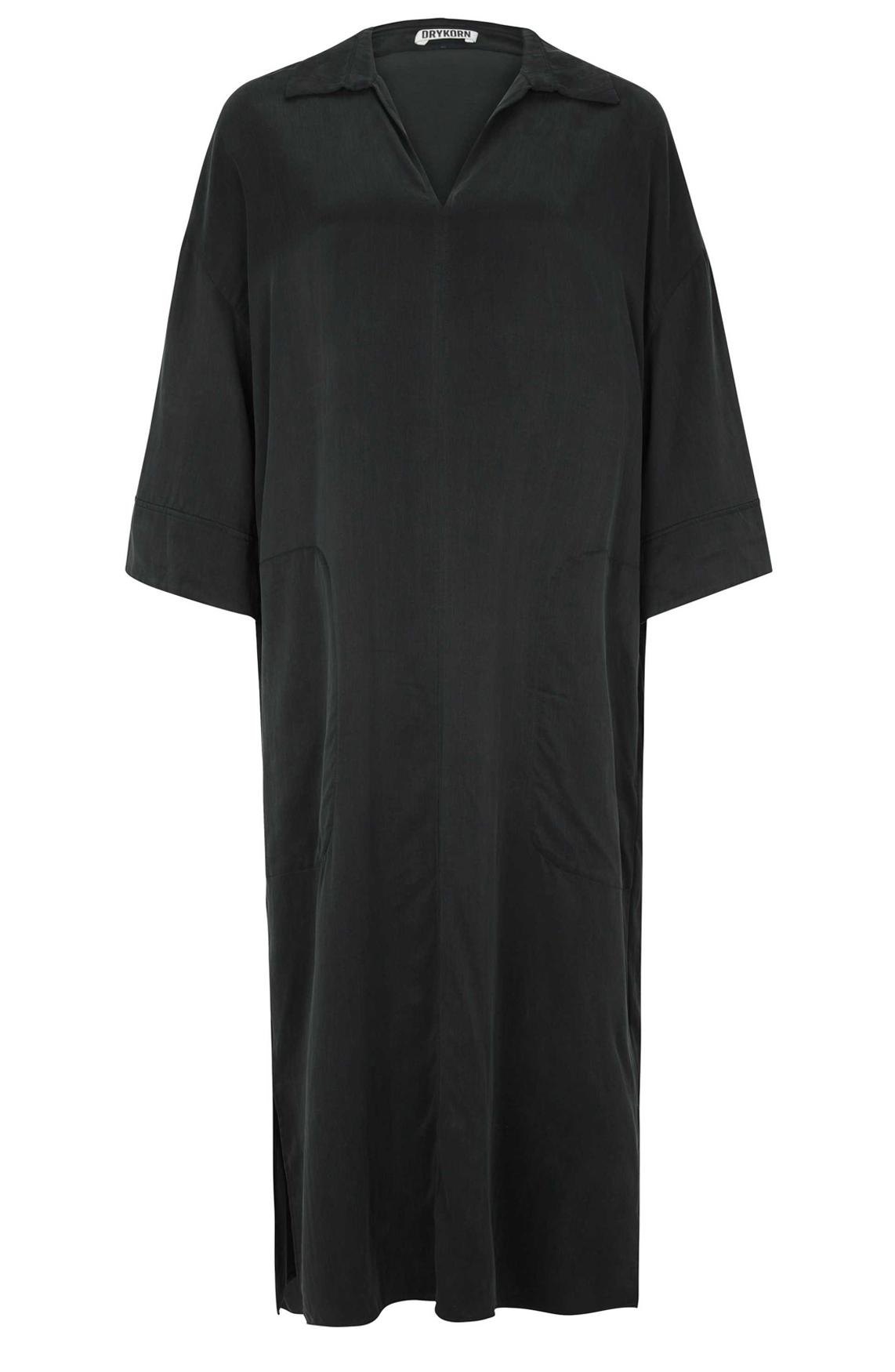 Drykorn Dames Charri cupro jurk zwart