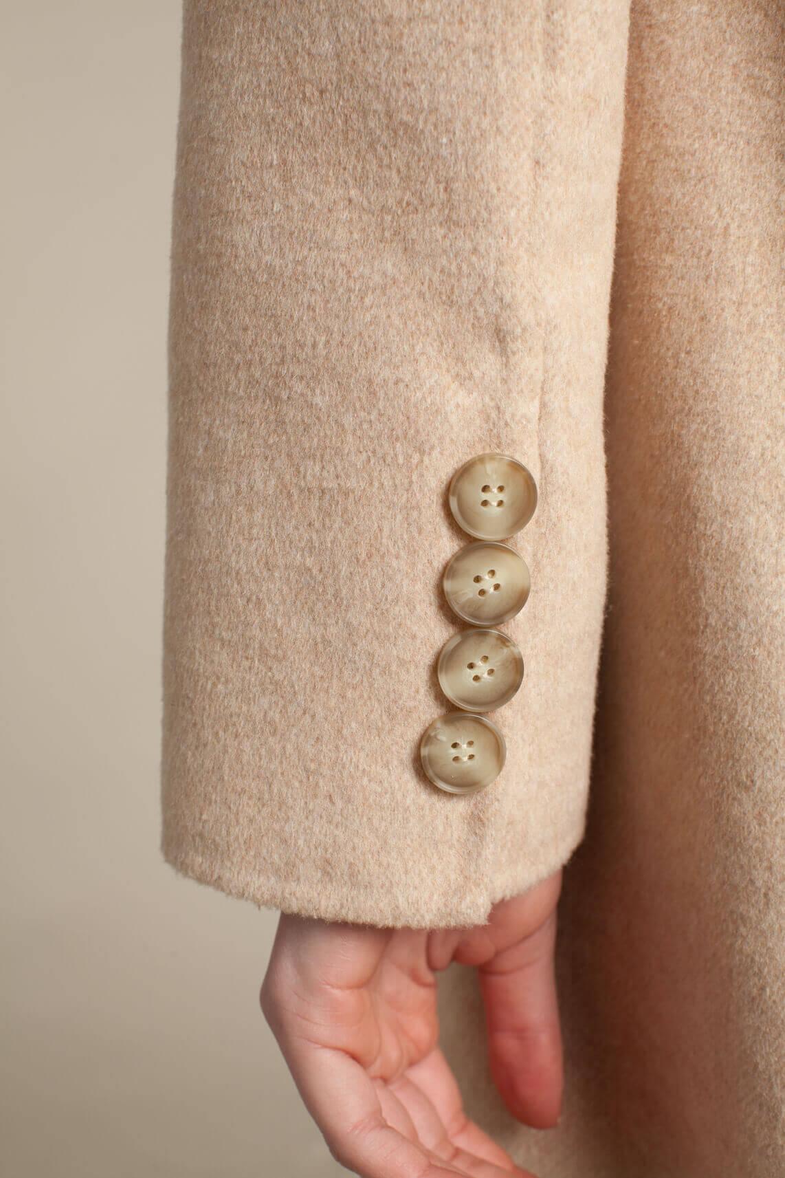 Beaumont Dames Lange wollen mantel Bruin