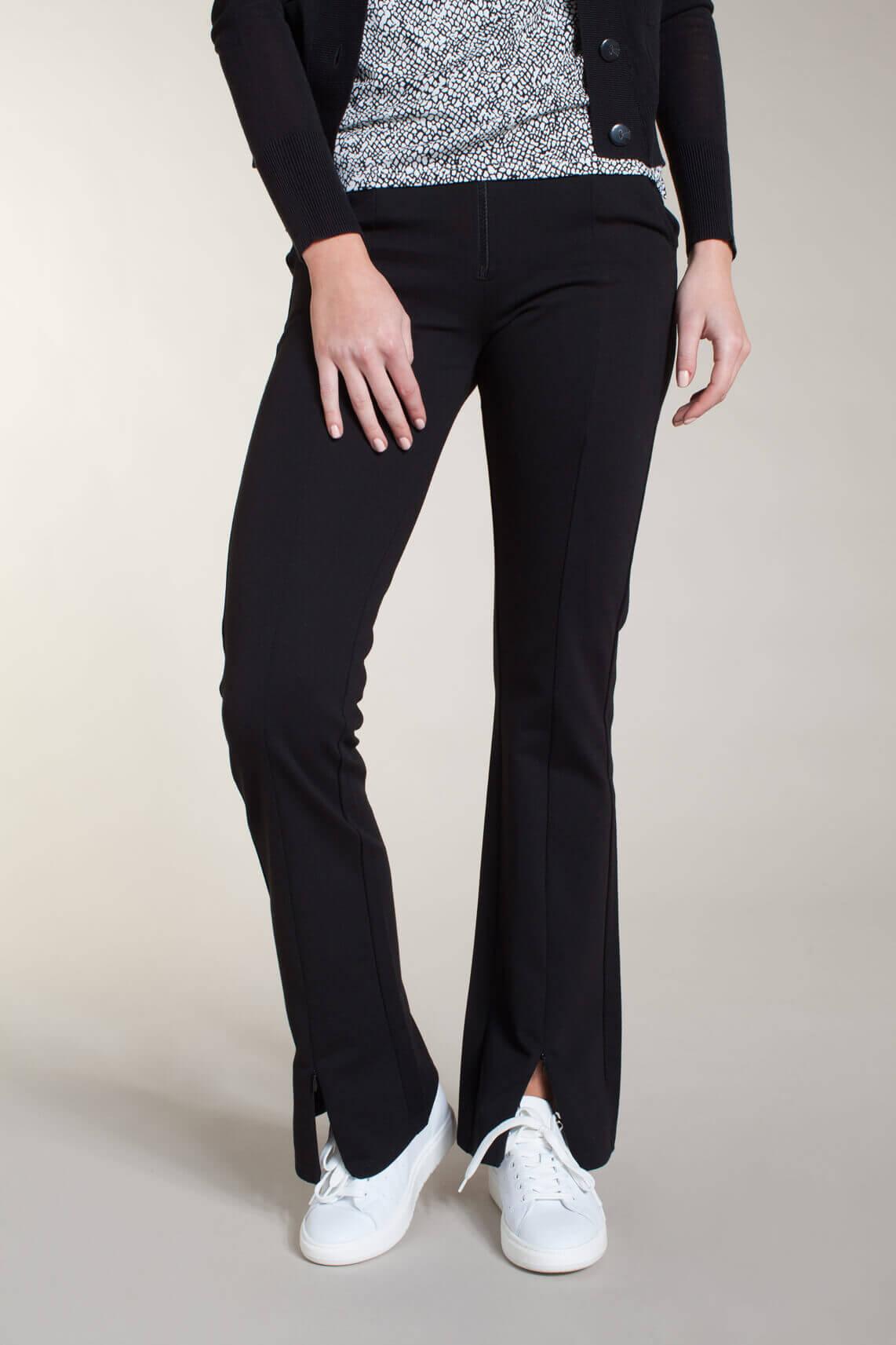 Anna Dames Bootcut pantalon zwart