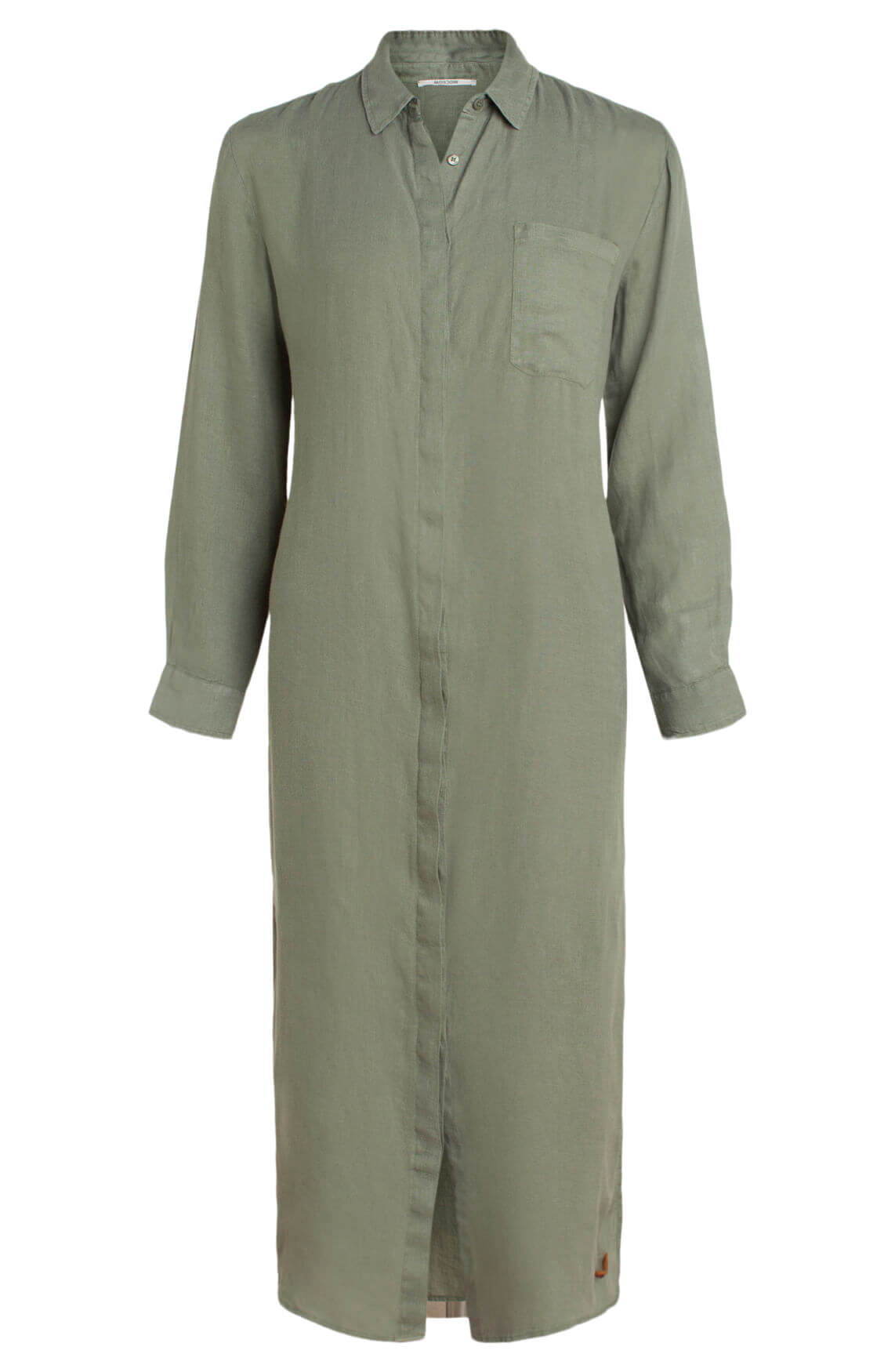 Moscow Dames Lange blousejurk groen