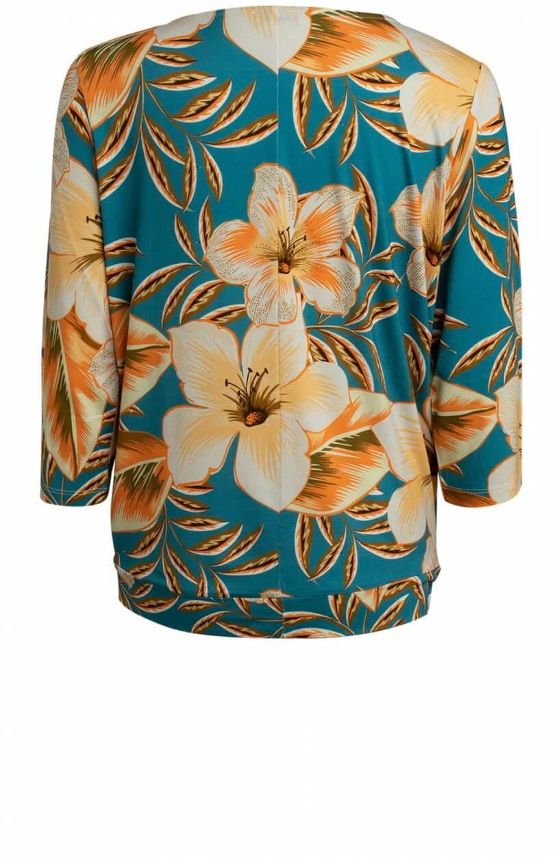 Anna Dames Bloemen shirt Blauw
