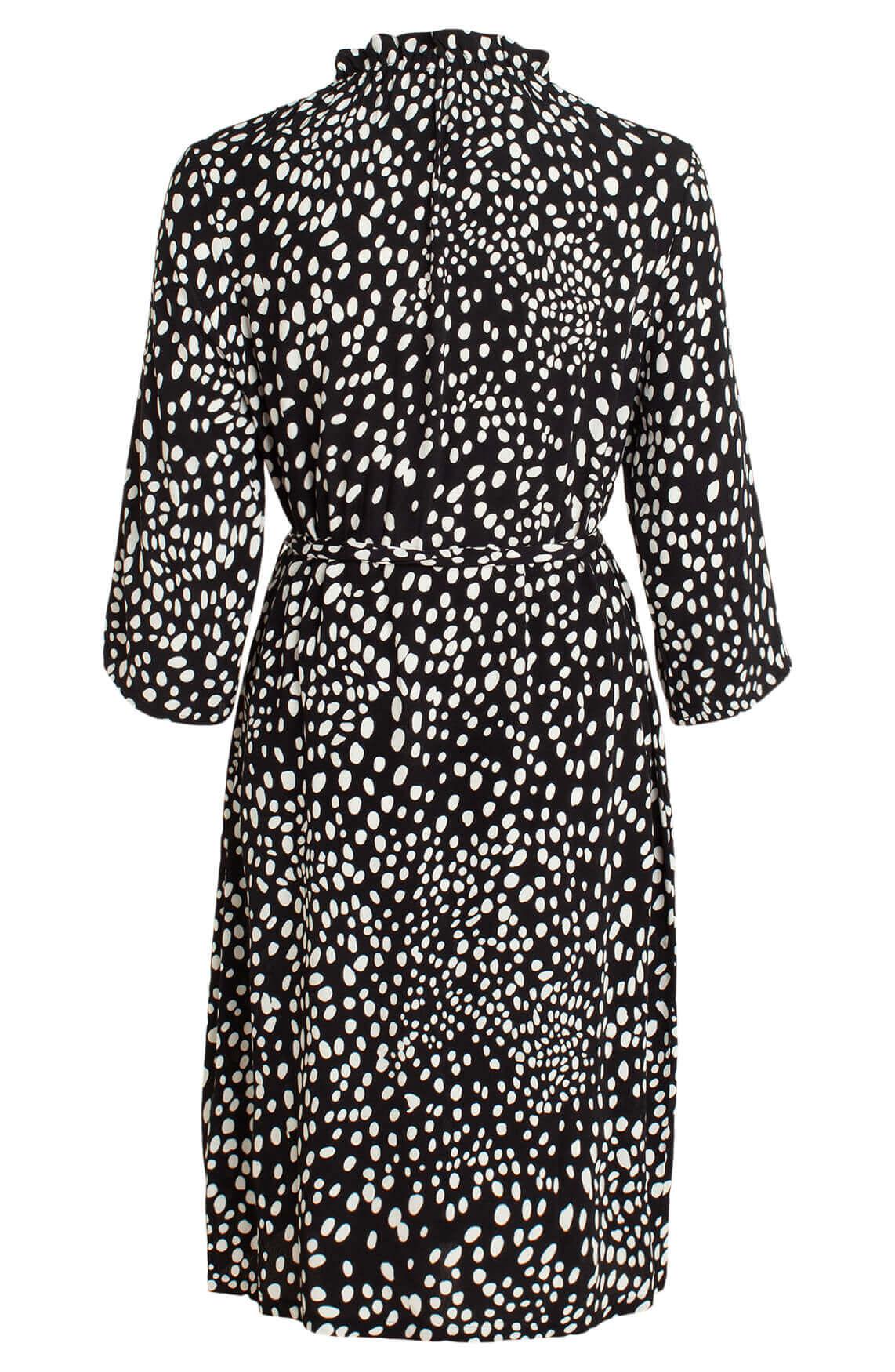 Anna Dames Polkadot jurk zwart