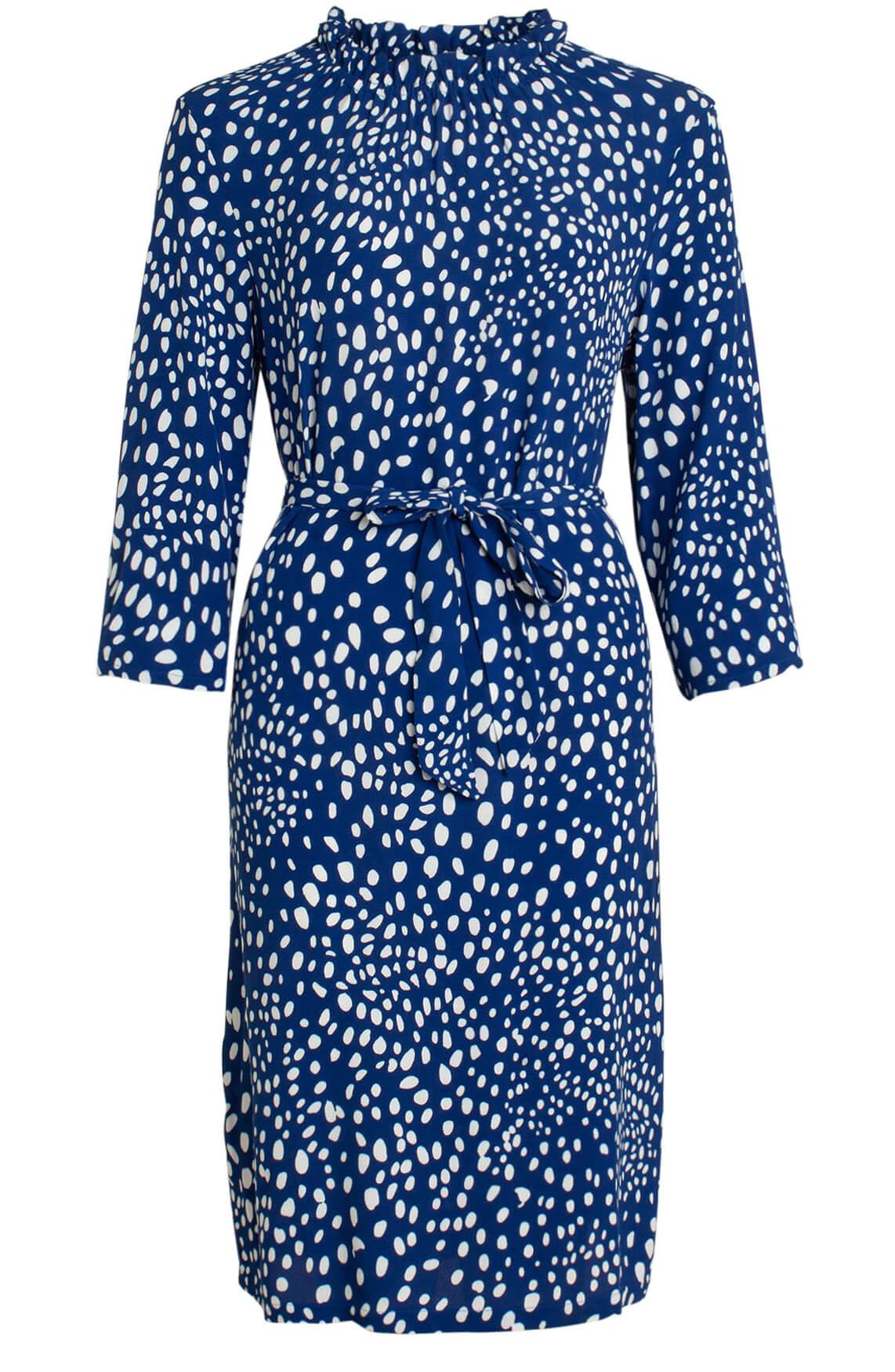 Anna Dames Polkadot jurk Blauw