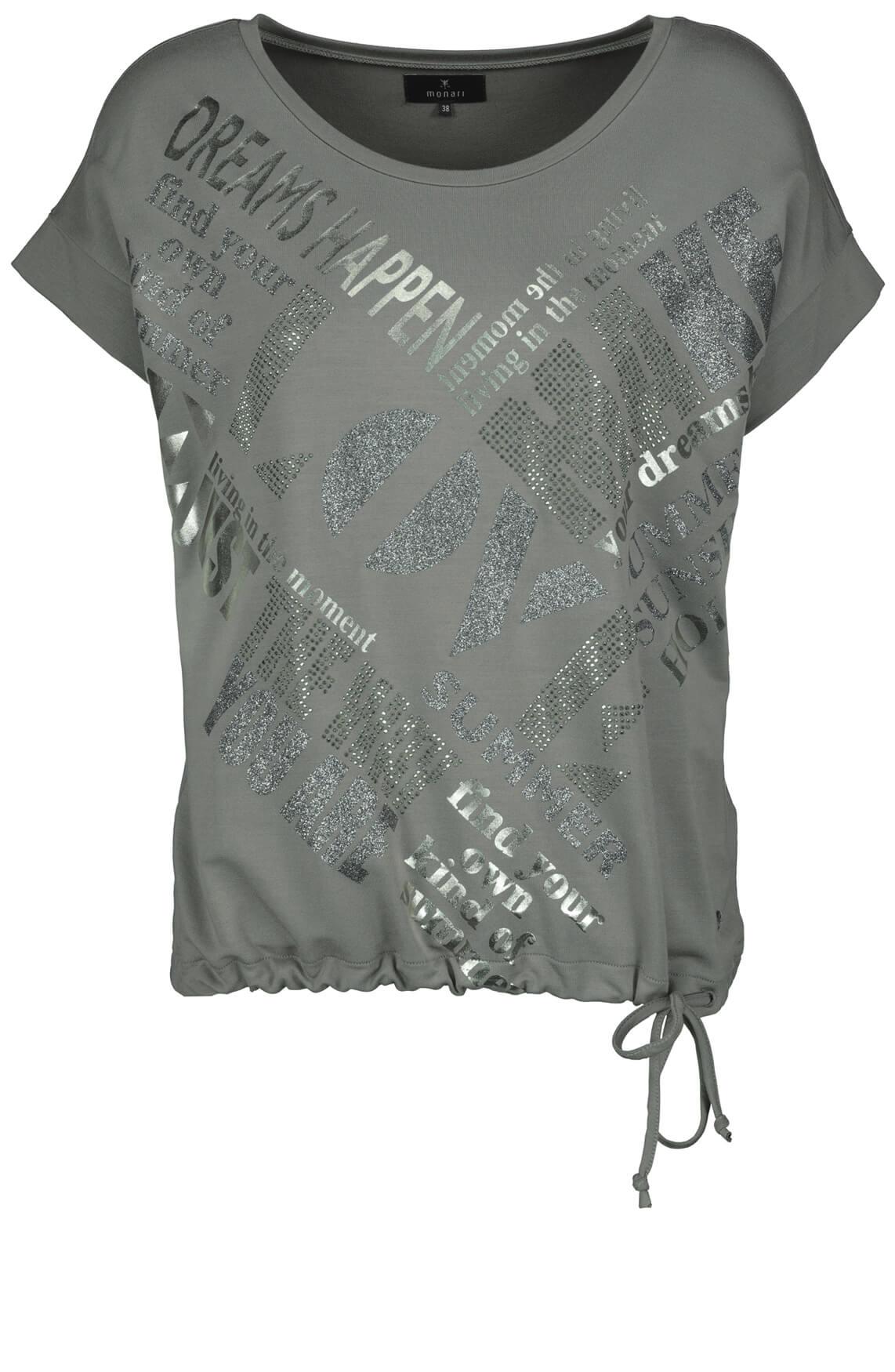 Monari Dames Shirt met glitters Grijs