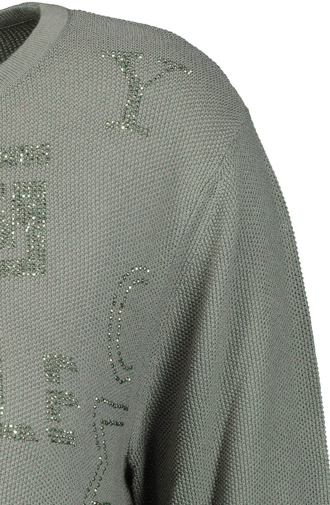 Monari Dames Pailletten shirt Grijs