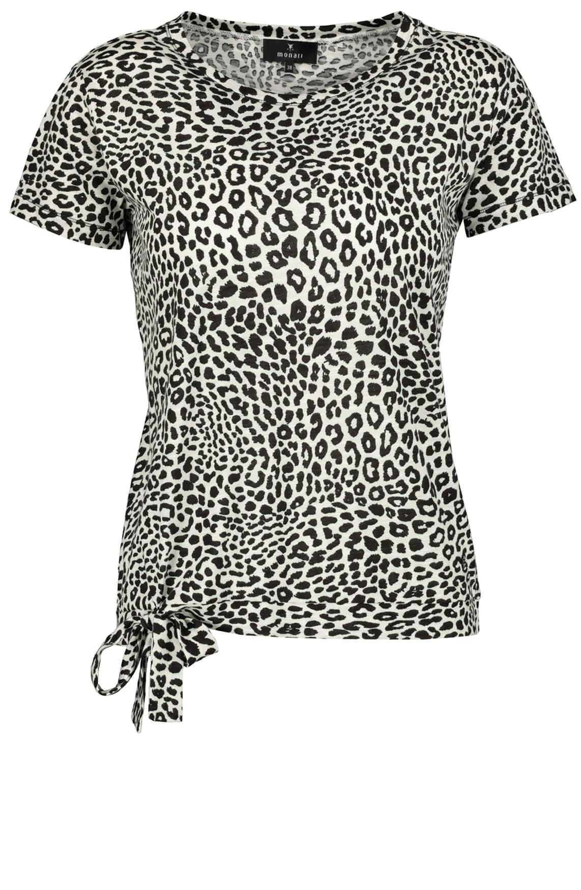 Monari Dames Shirt met strikdetail Grijs