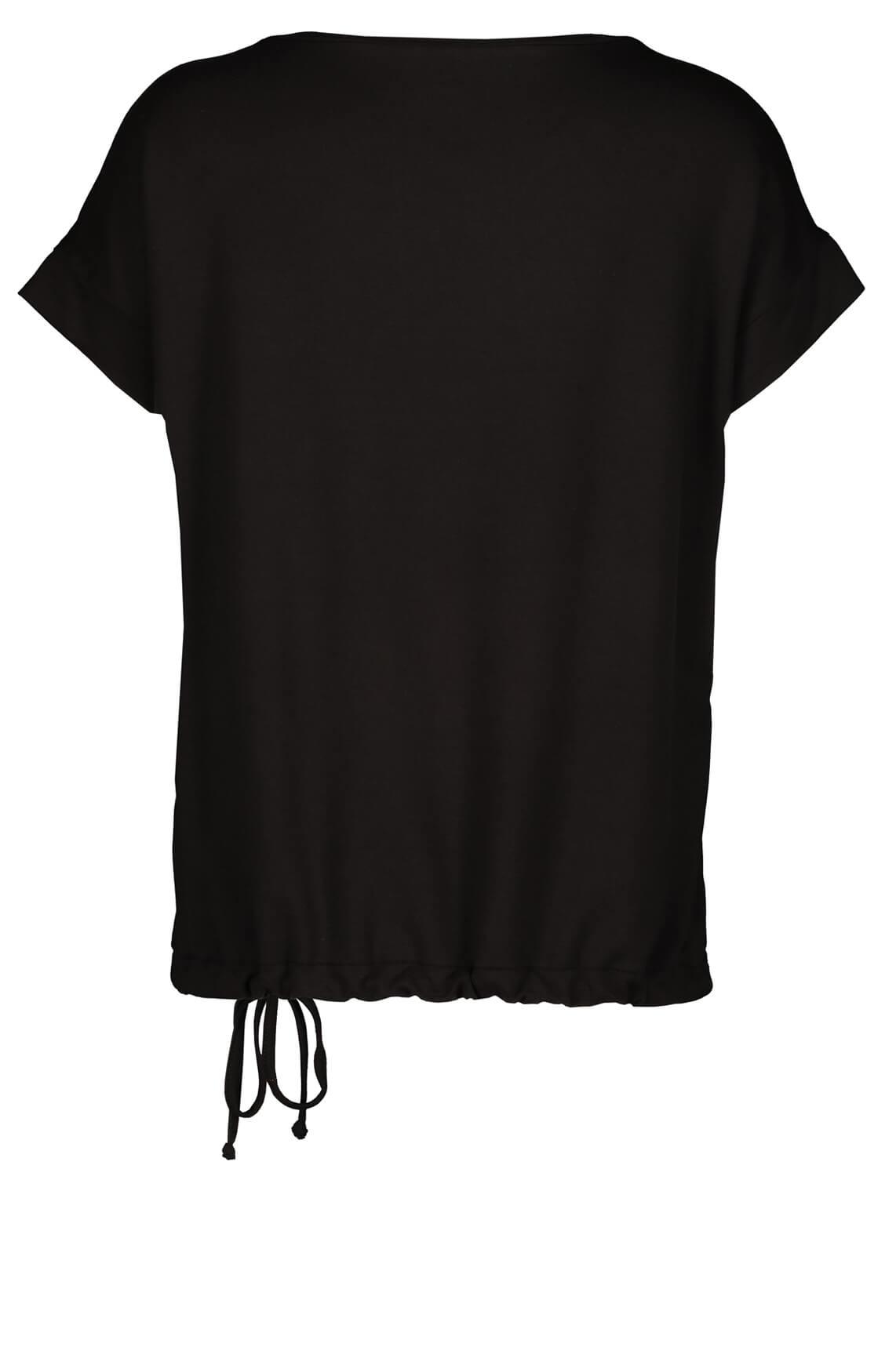 Monari Dames Shirt met glitters zwart