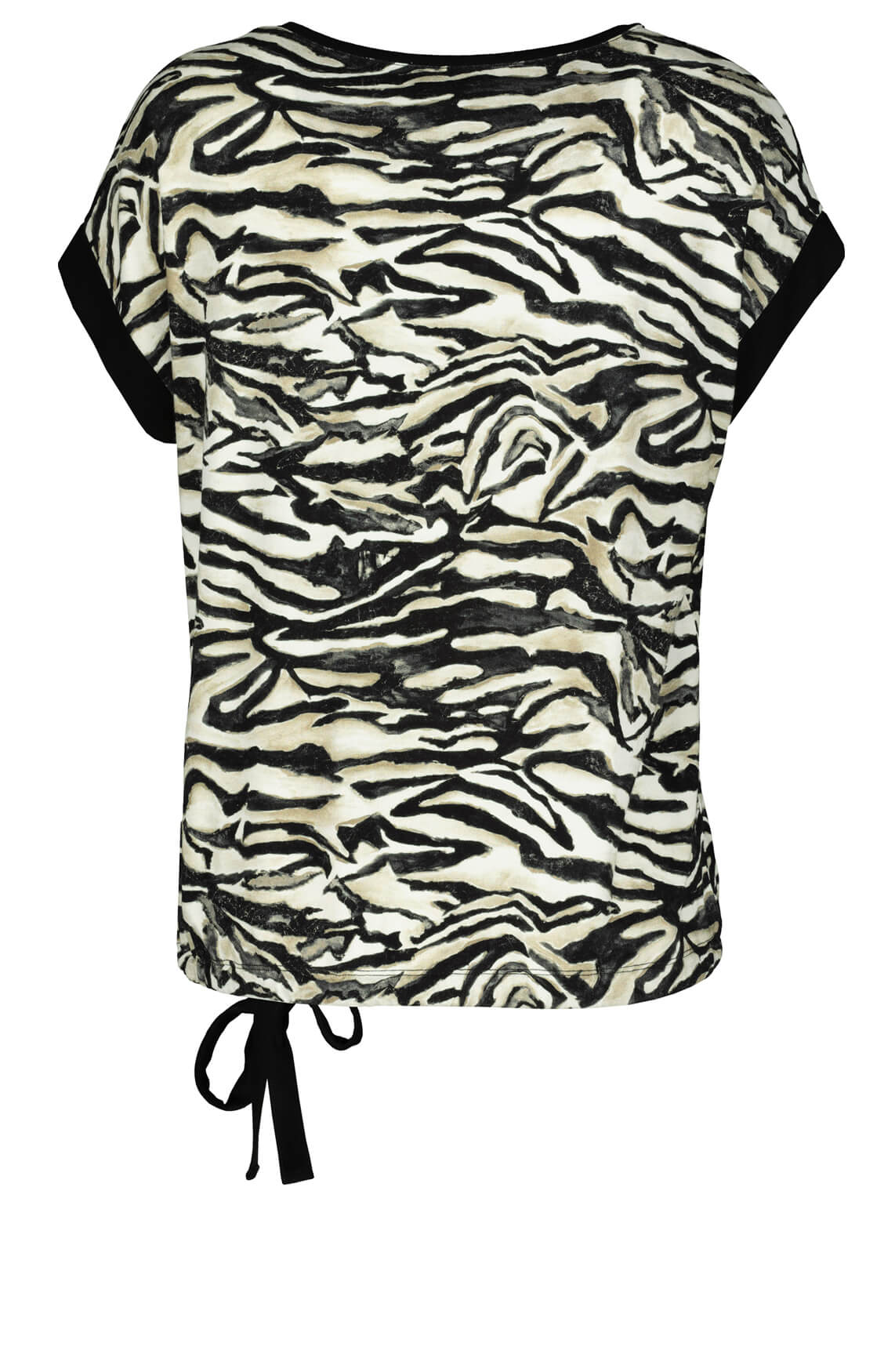 Monari Dames Shirt met animalprint zwart