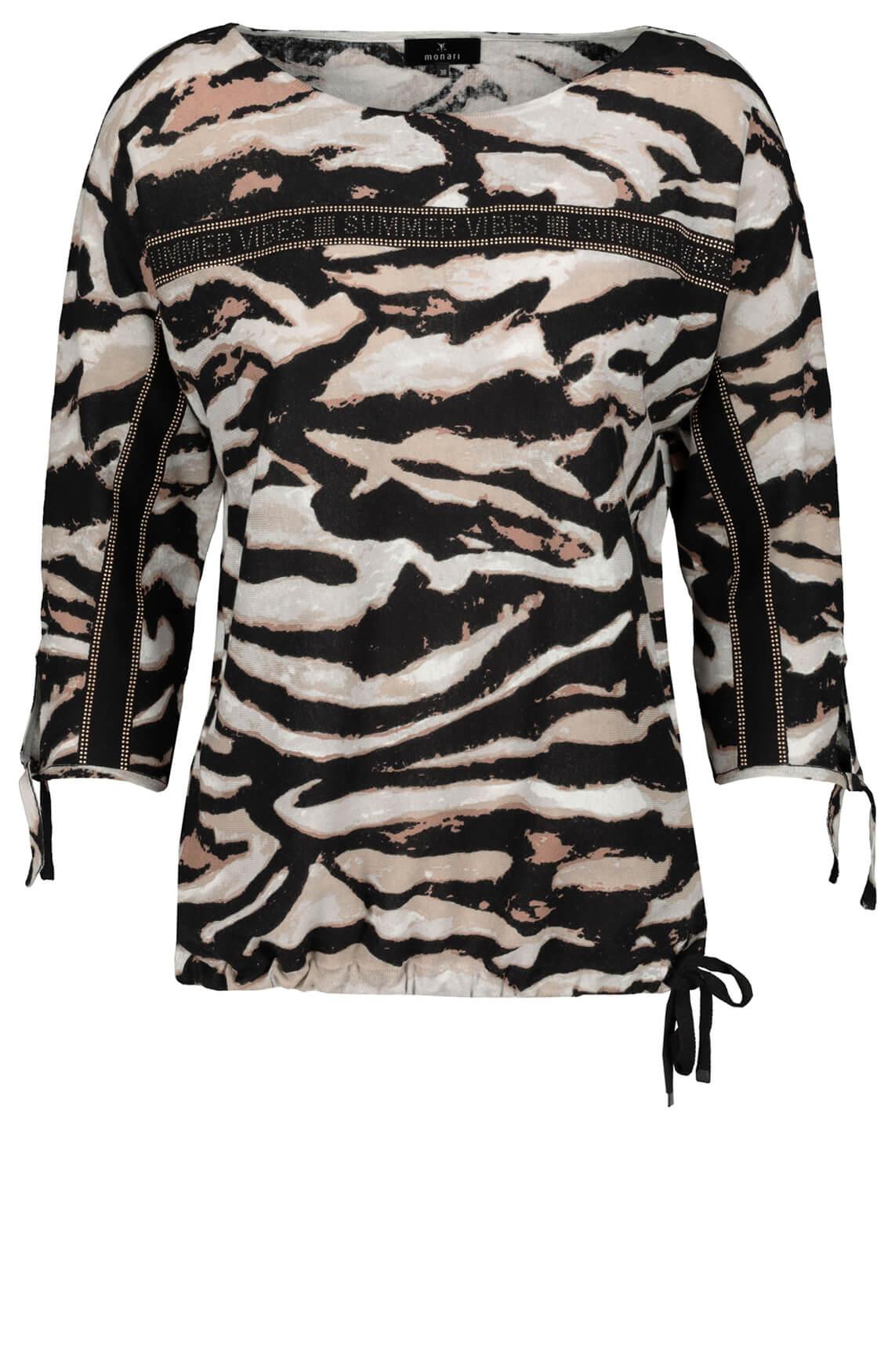 Monari Dames Pullover met studs zwart