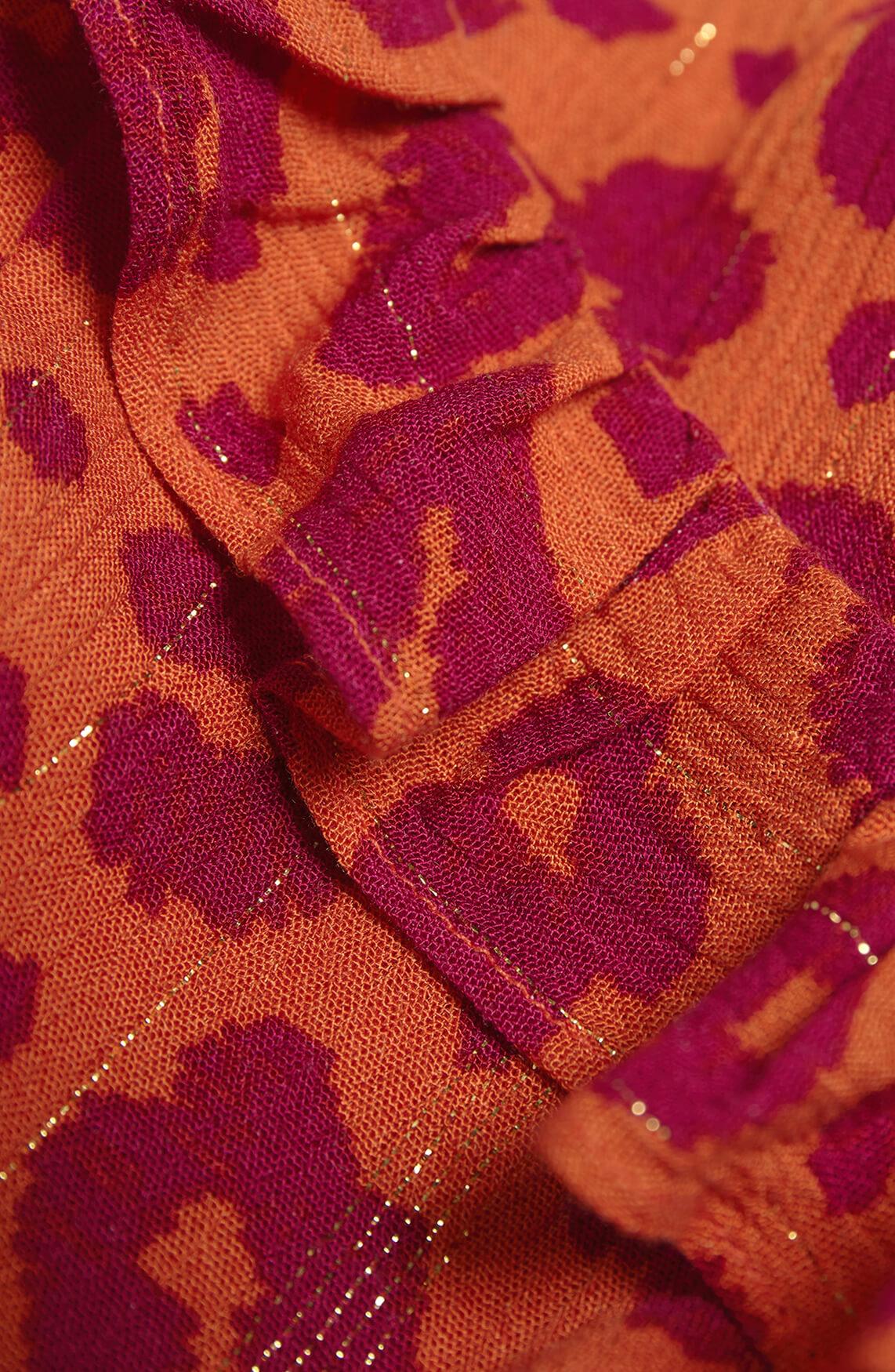Fabienne Chapot Dames Carmen maxi jurk Oranje