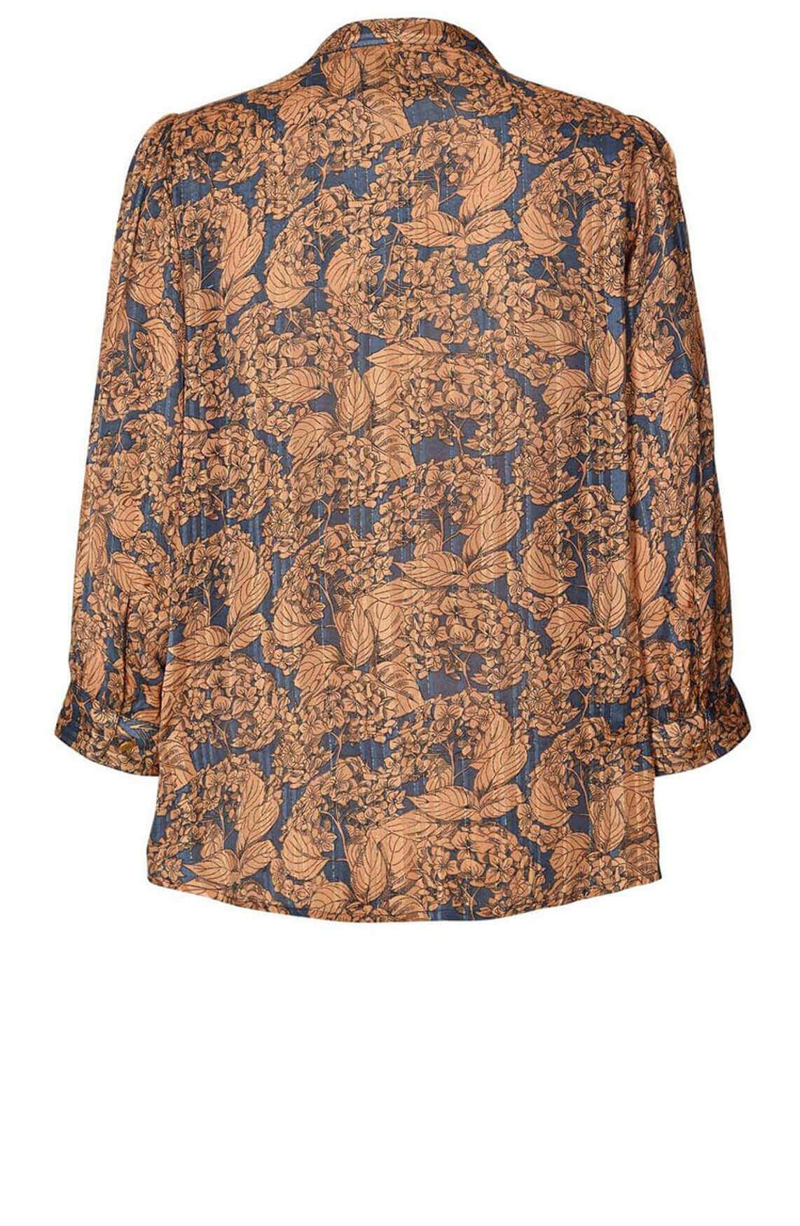 Lollys Laundry Dames Amalie blouse Bruin