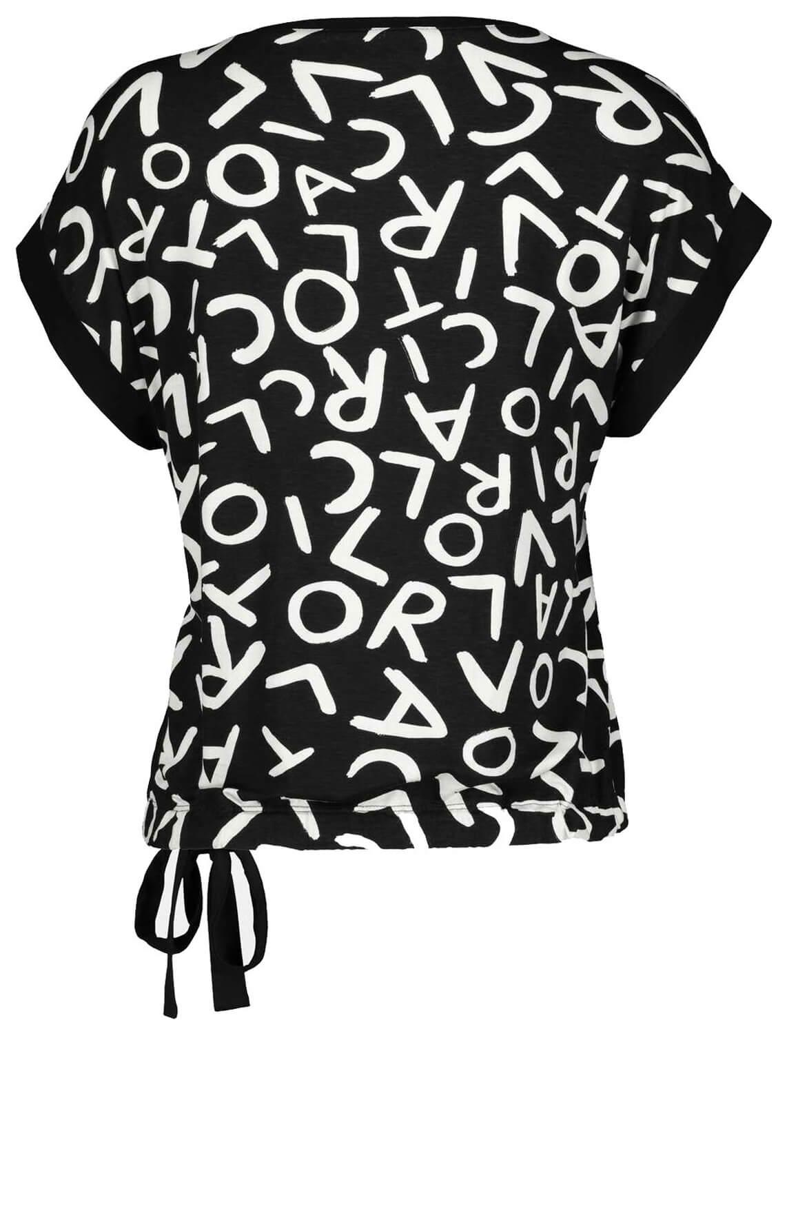 Monari Dames Shirt met letterprint zwart