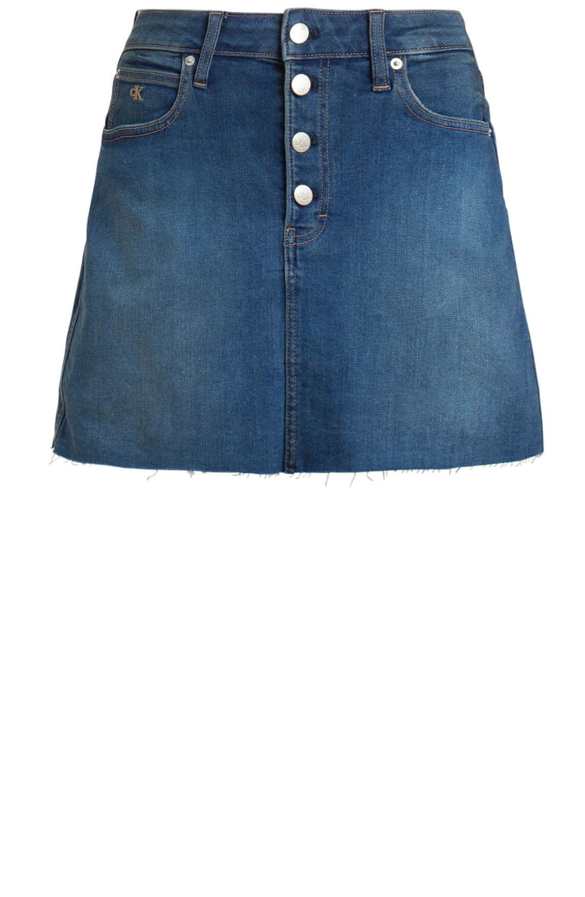 Calvin Klein Dames Spijkerrok Blauw