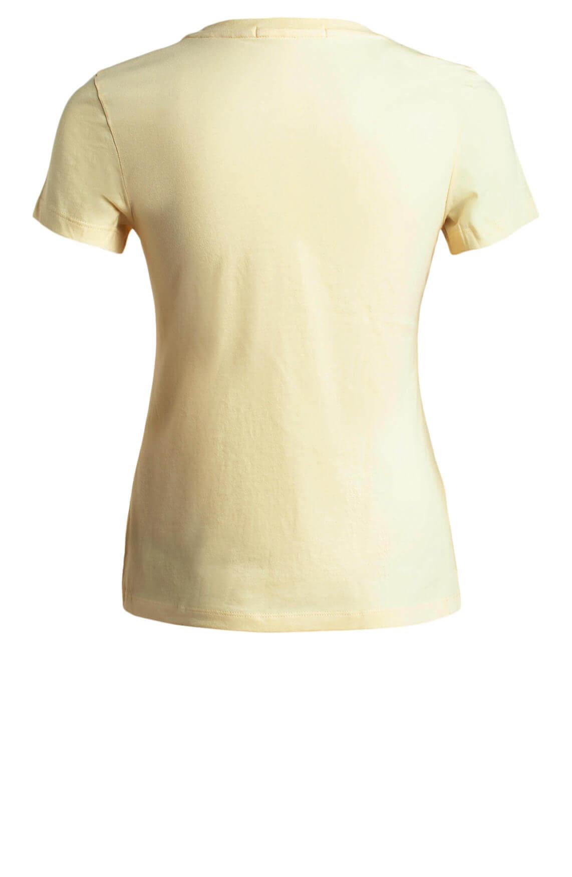 Calvin Klein Dames Shirt met tekstprint geel