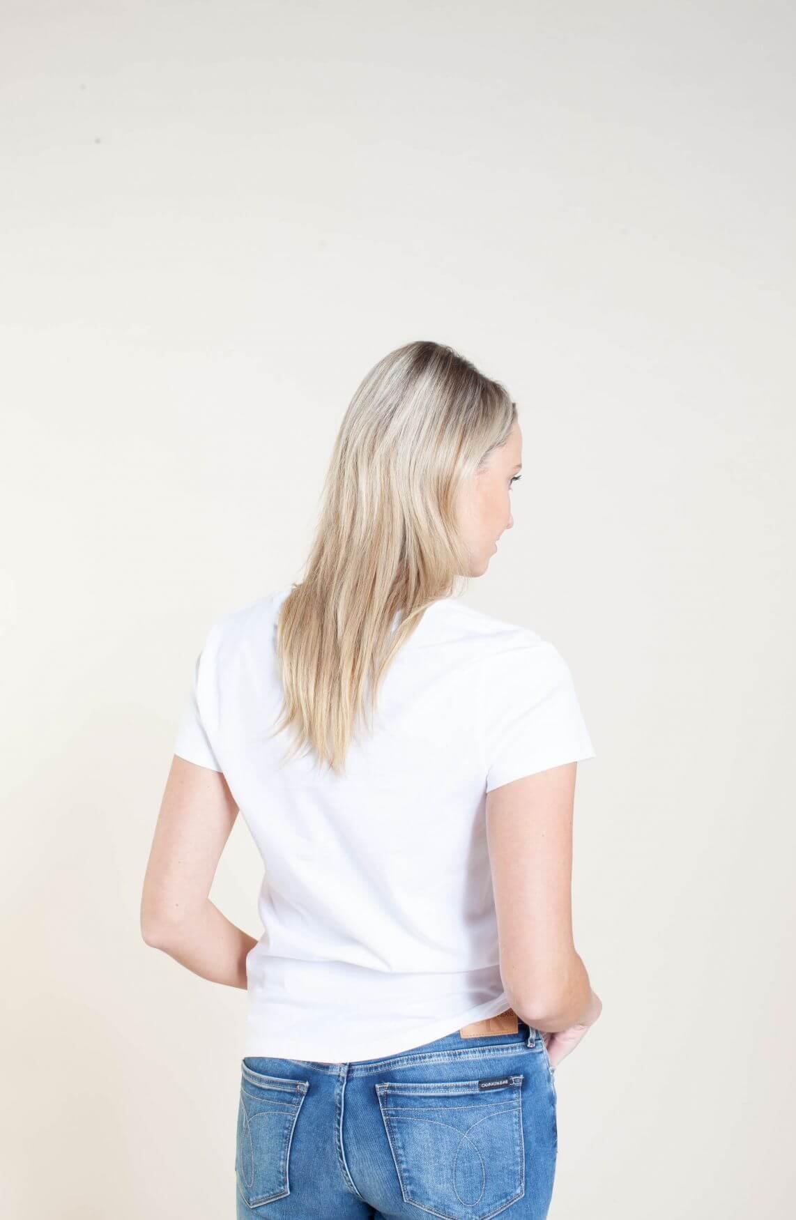 Calvin Klein Dames Shirt met tekstprint wit