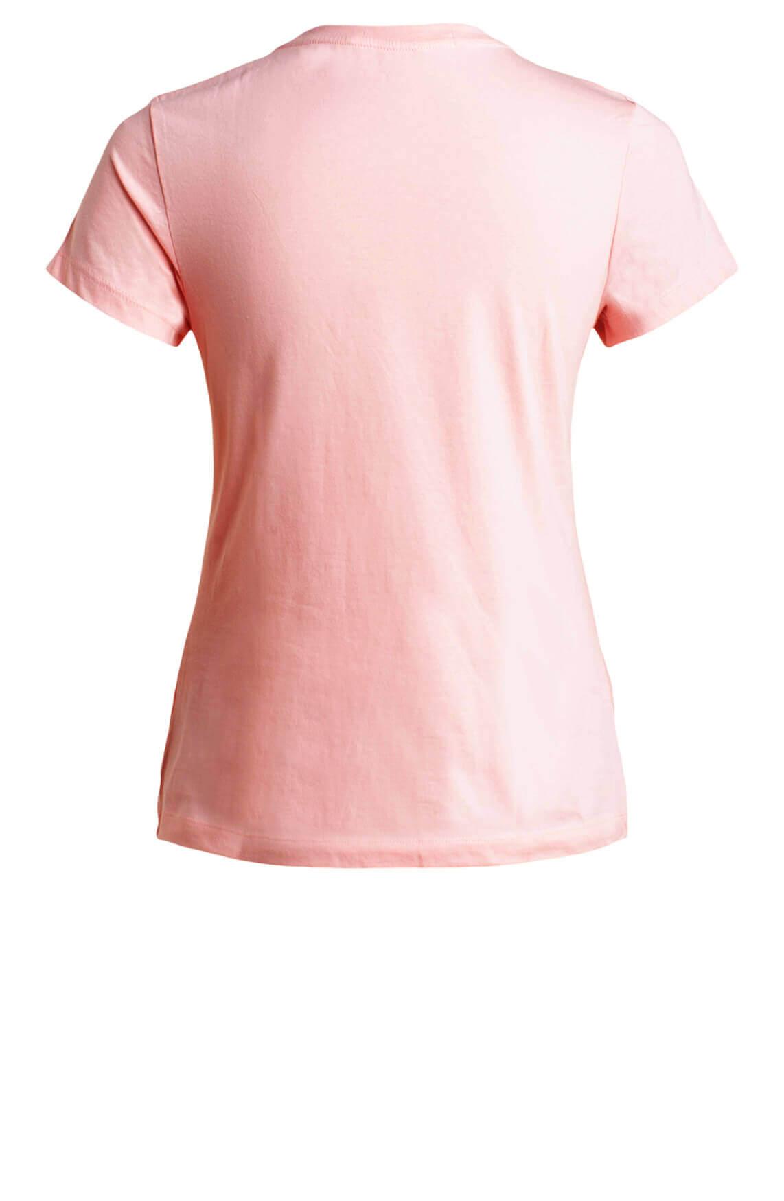 Calvin Klein Dames Shirt met tekstprint roze