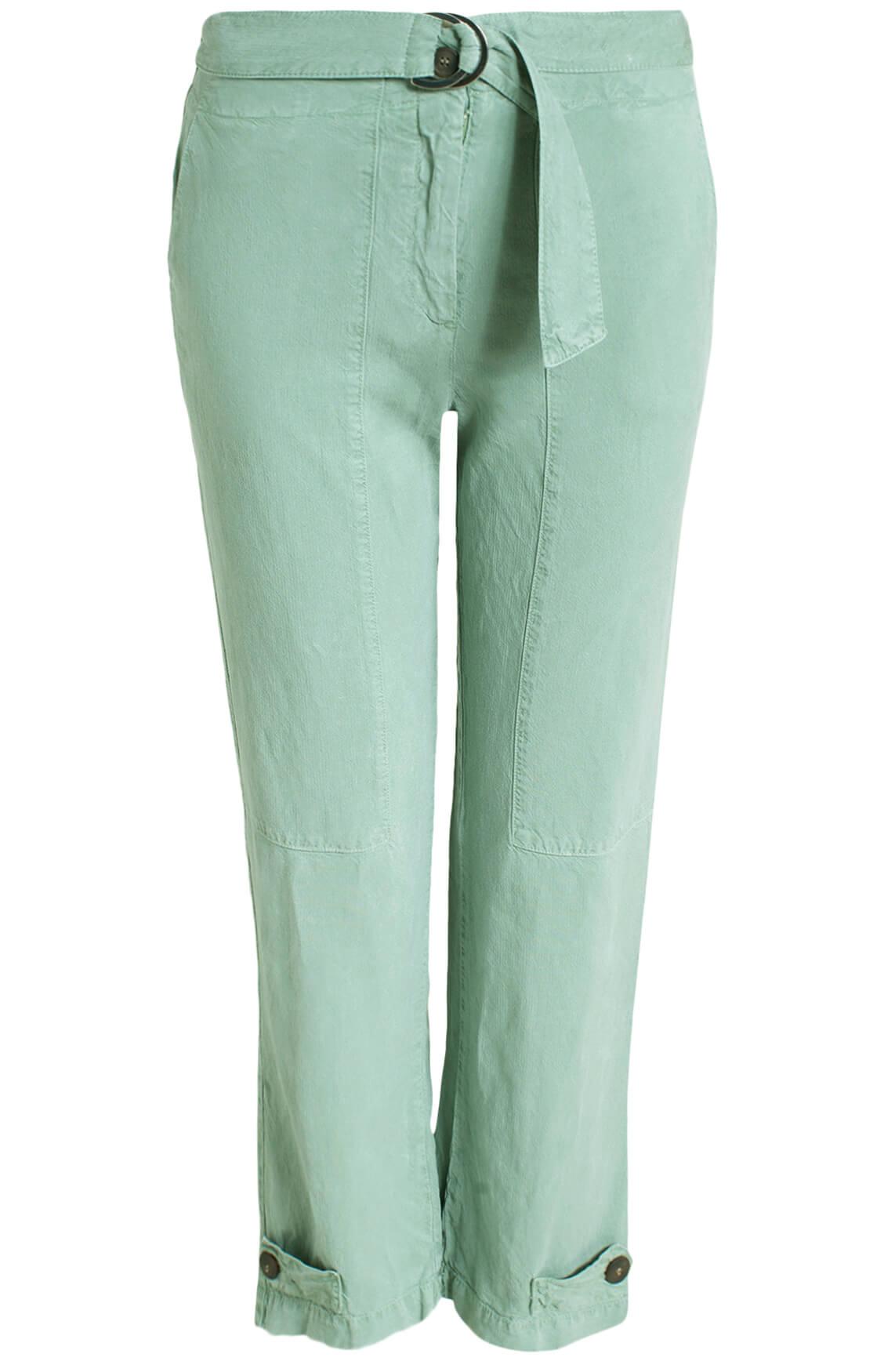 Anna Blue Dames Cargo broek groen