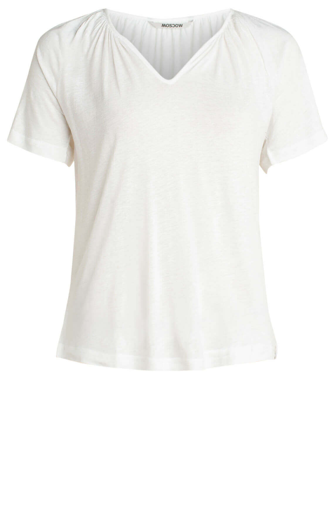 Moscow Dames Shirt met V-hals wit