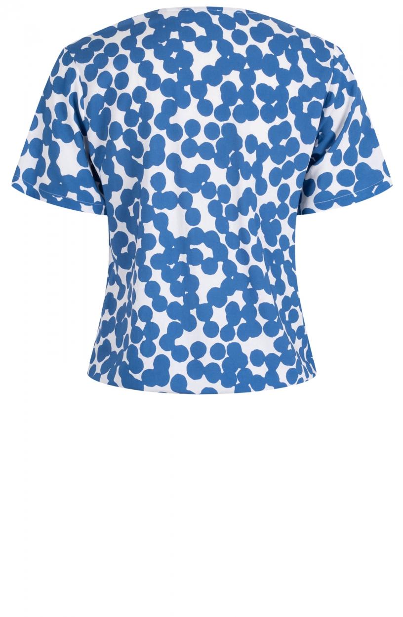 Anna Dames Stippen blouse Blauw