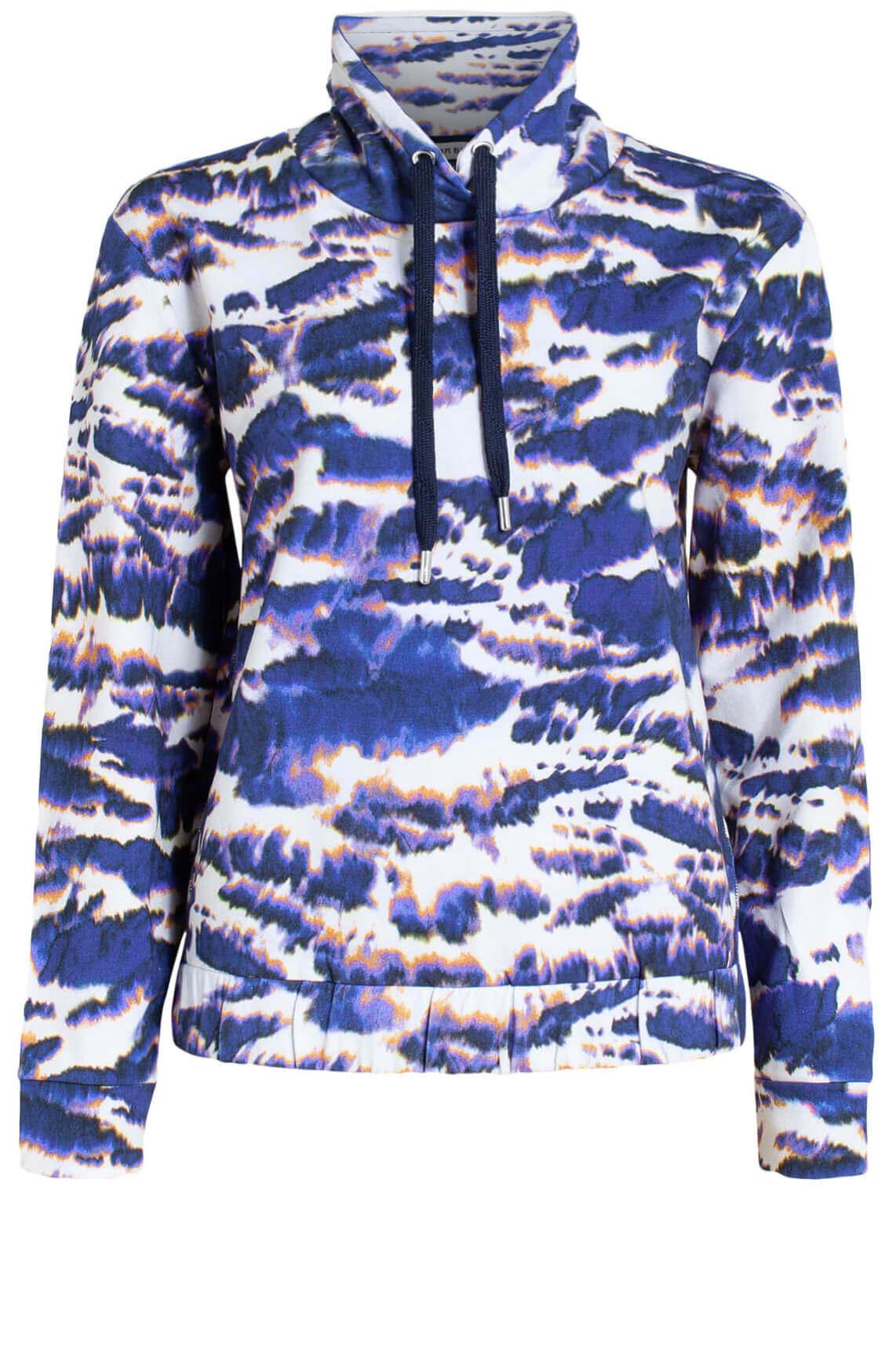 Anna Blue Dames Tie dye sweater Paars